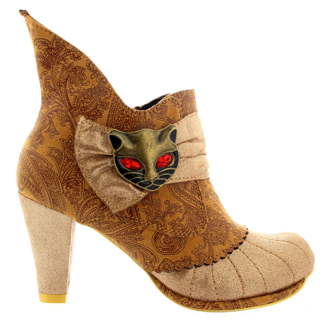 Damenschuhe Irregular Choice Miaow Leder Mid US Heels Evening Ankle Stiefel US Mid 5.5-11.5 321a14