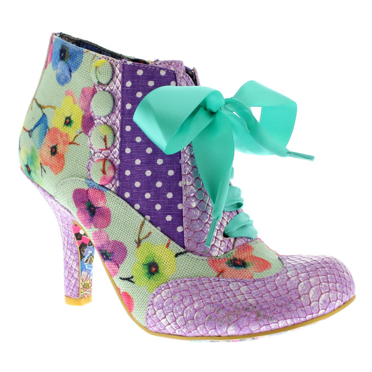 damen Irregular Choice Blair Elfglow Floral Court schuhe Mid Heels Heels Heels US 5.5-11 f10763