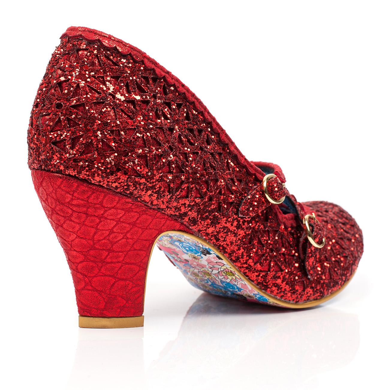 Damenschuhe Irregular Choice Schuhe Dazzle Dance Buckle Glitter Velvet Court Schuhe Choice US 5.5-11 26876d