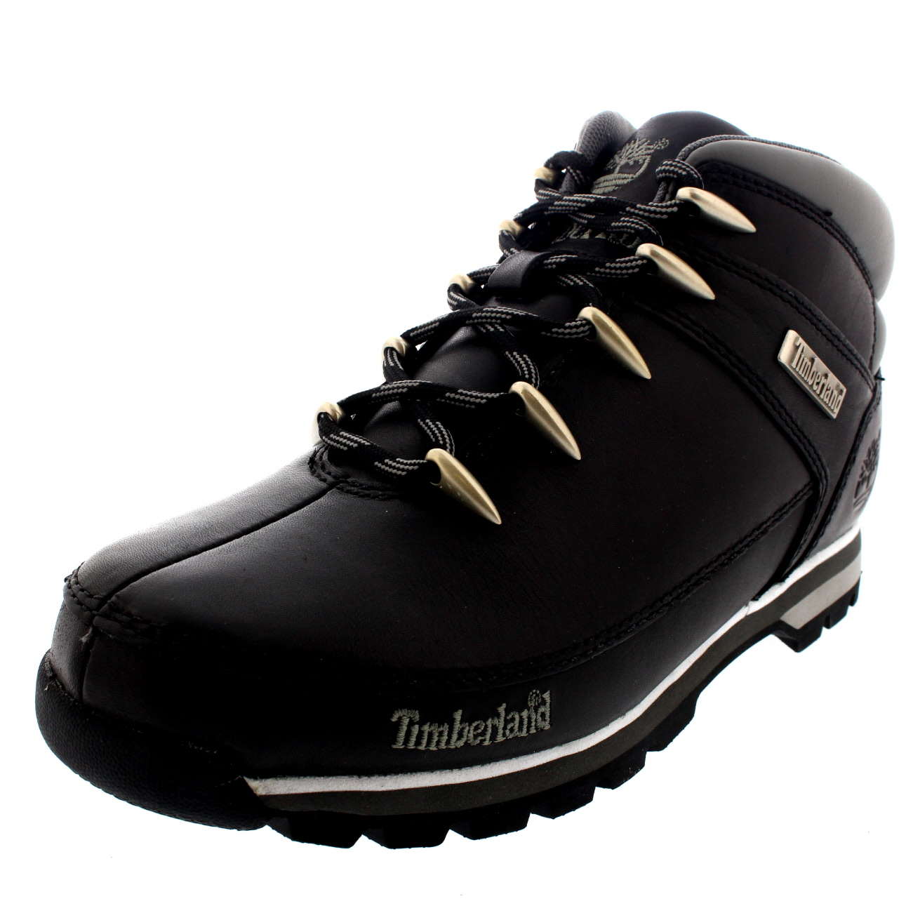 Mens Timberland Euro Sprint Hiker Casual Hiking Walking Ankle Boots Black