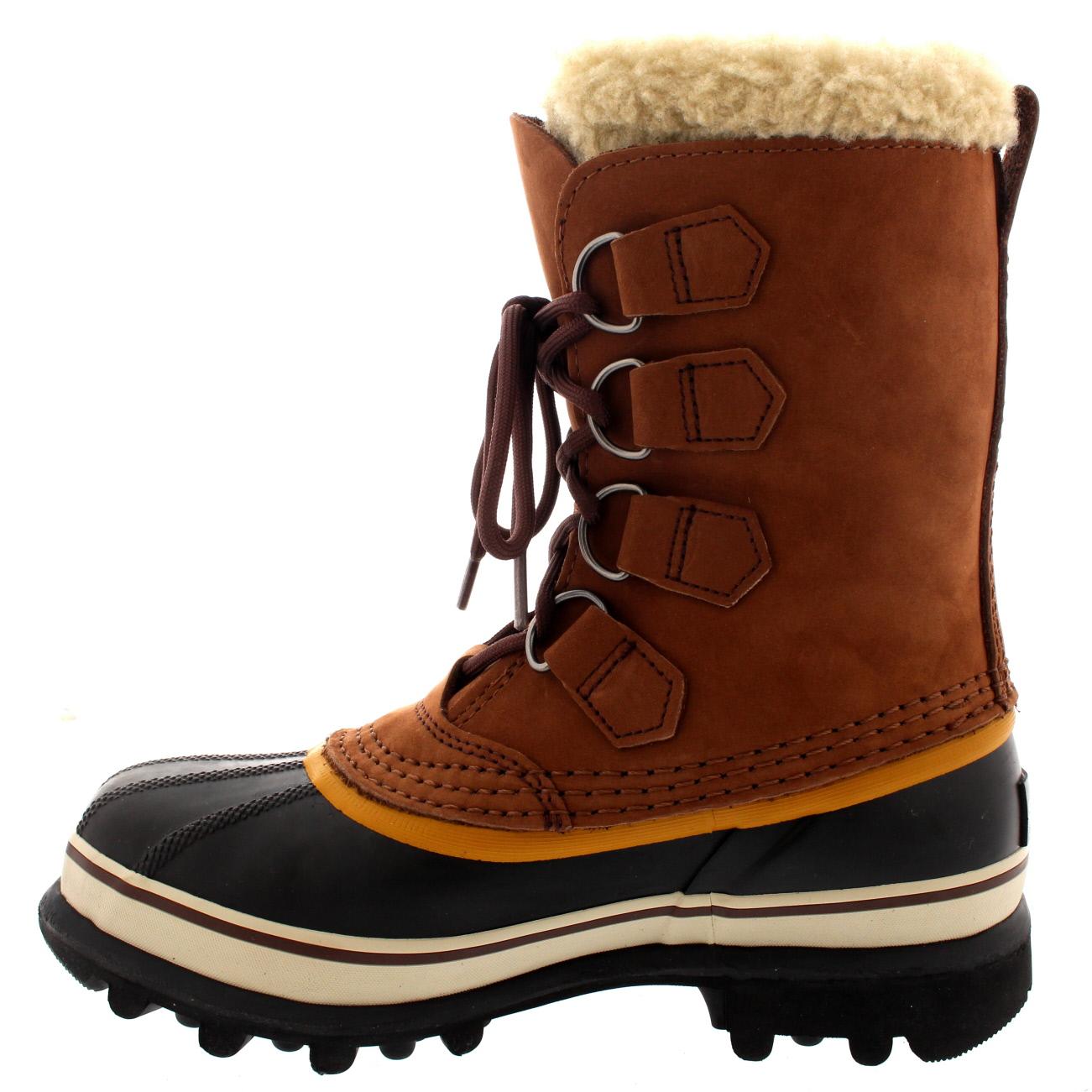 Womens Sorel Caribou Snow Waterproof Winter Fur Lined Mid