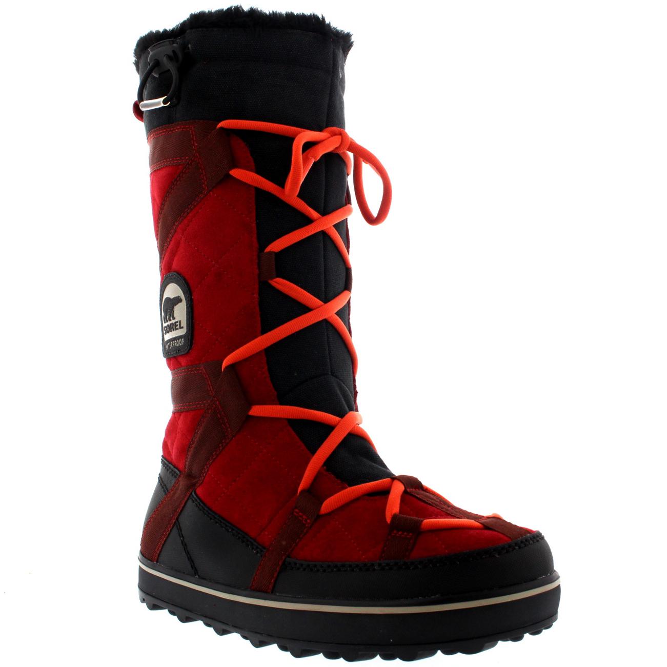 Womens Sorel Glacy Explorer Fur Lined Winter Snow Rain ...