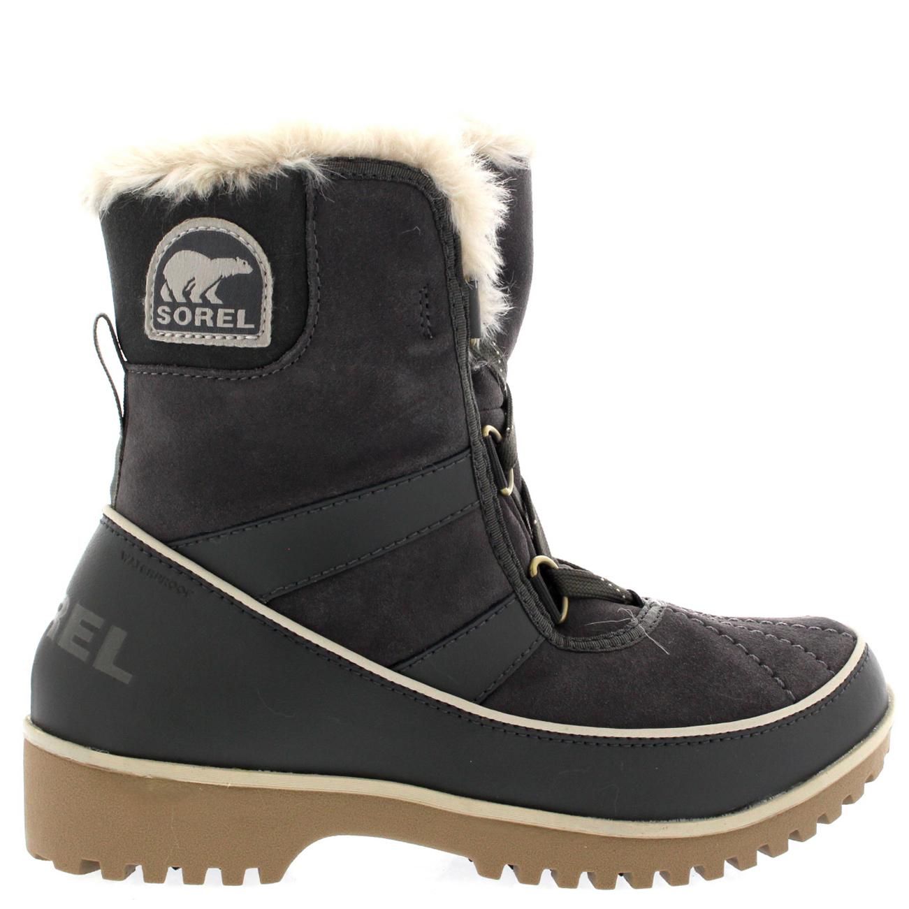 Womens Sorel Tivoli II Fur Lined Lace Up Rain Winter Snow Mid Calf Boots
