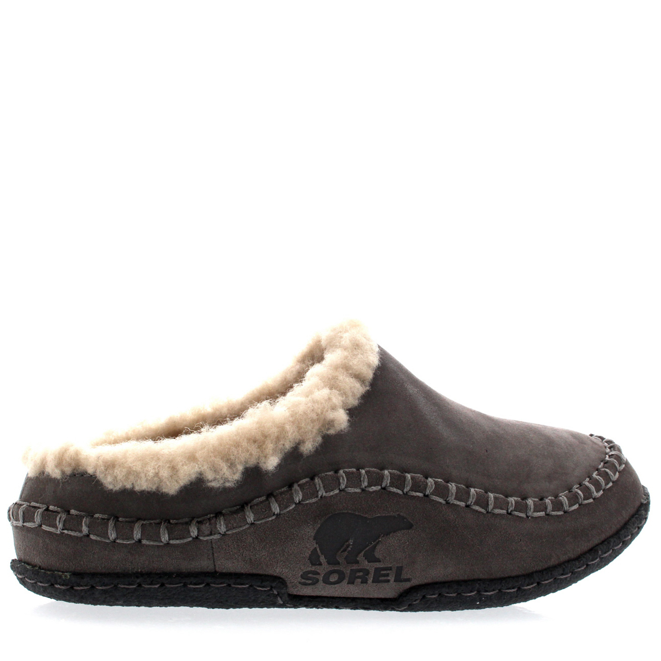 96c19b6949d3 Mens Sorel Falcon Ridge Fur Lined Slip On Mules Warm Winter Slippers ...