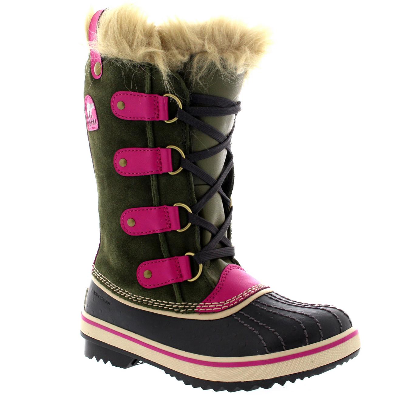 Unisex Kids Youth Sorel Tofino Waterproof Fur Lined Snow