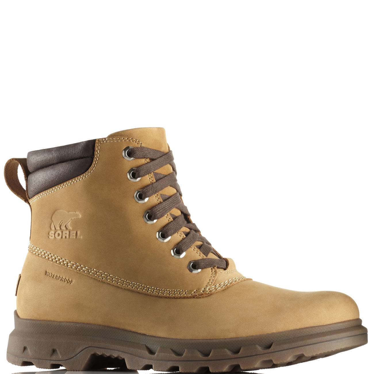 c1263e9c7e8 Details about Mens Sorel Portzman Lace Winter Nubuck Rain Snow Ankle  Waterproof Boots US 8-13