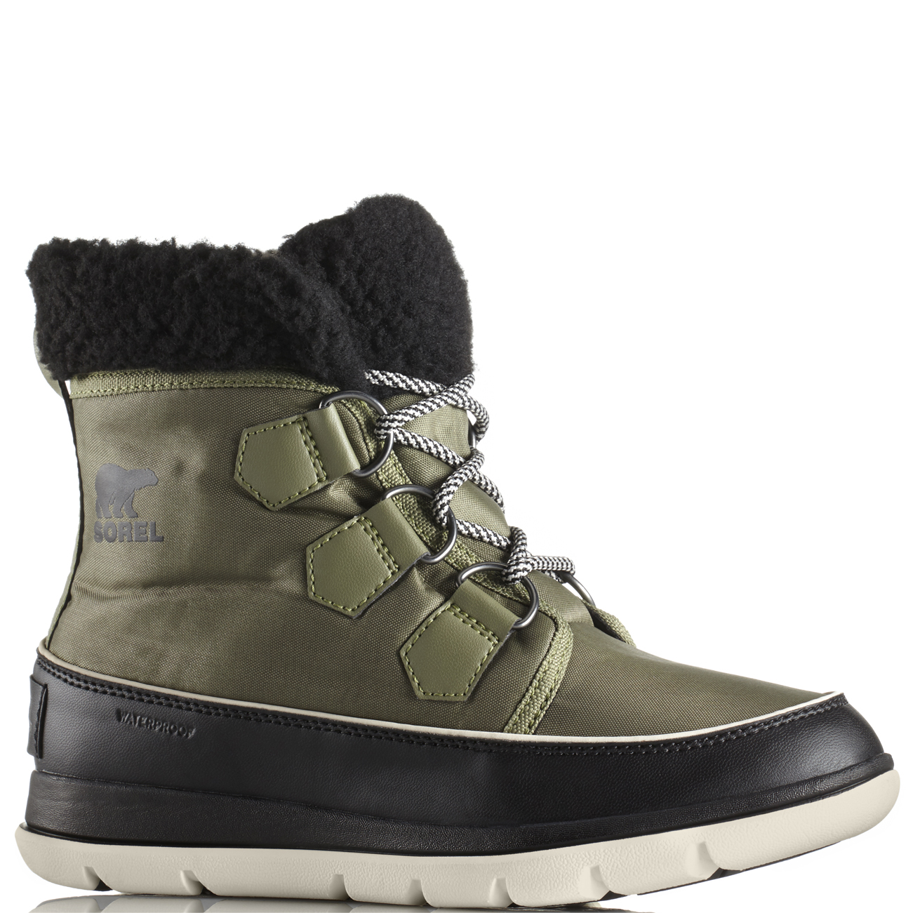 5776d6a6195 Details about Womens Sorel Explorer Carnival Waterproof Hiking Nylon Ankle  Winter Boot US 5-11