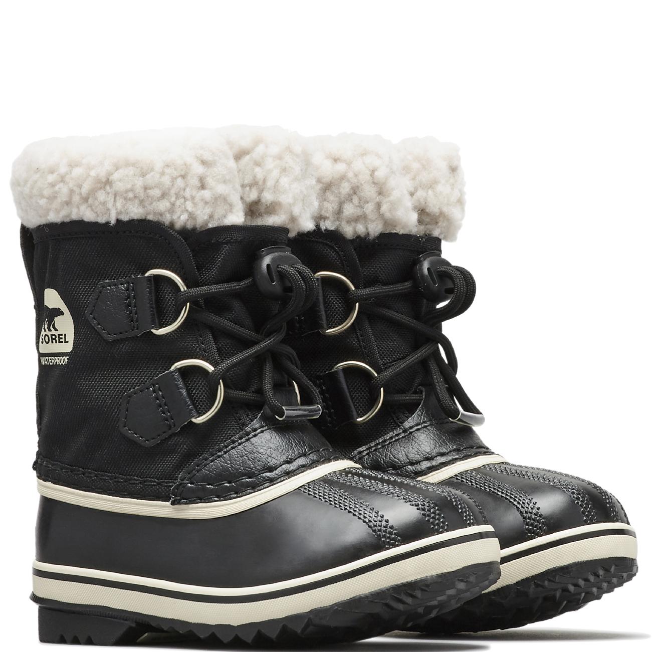 58effddaca1d3 Unisex Kids Sorel Youth Pac Nylon Fur Lined Waterproof Ankle Snow ...
