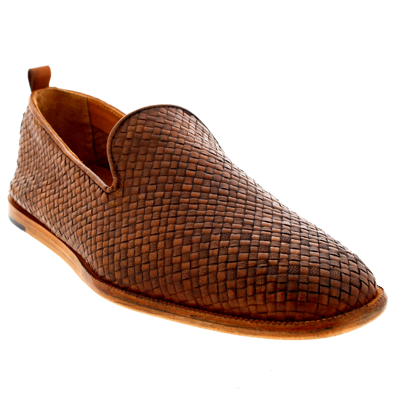 Mens H By Hudson Ipanema Leather Casual Smart Weave Tan Summer Shoes All Sizes
