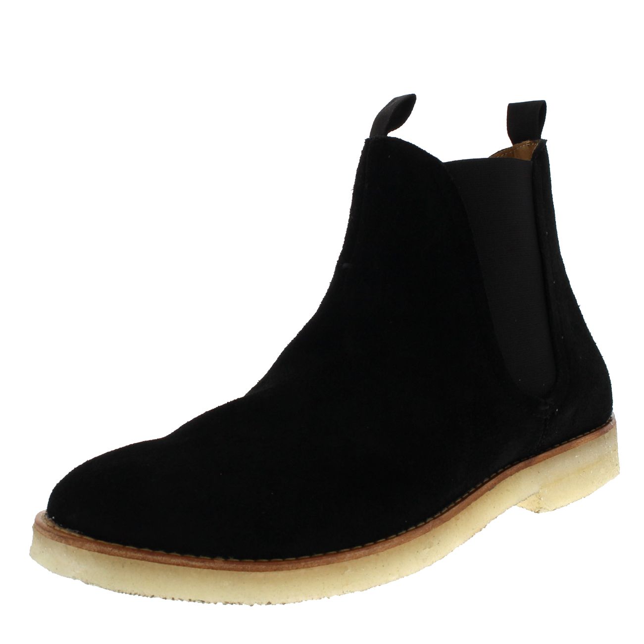 reputable site bbd27 4ca29 Details about Mens H By Hudson Sandgate Smart Suede Work Black Ankle  Chelsea Boots US 7-13