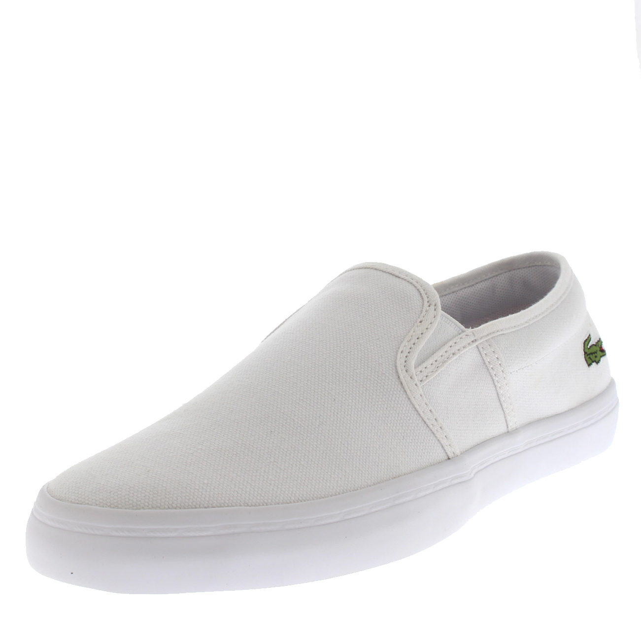 512ab1b2e60198 Womens Lacoste Gazon BL 2 Canvas Casual White Slip On Summer Sneakers US  5-10