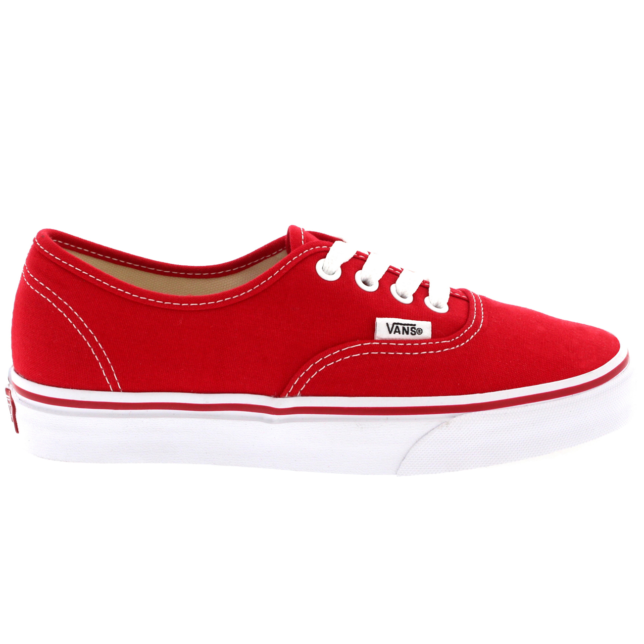 vans authentic red canvas womens trainers nz