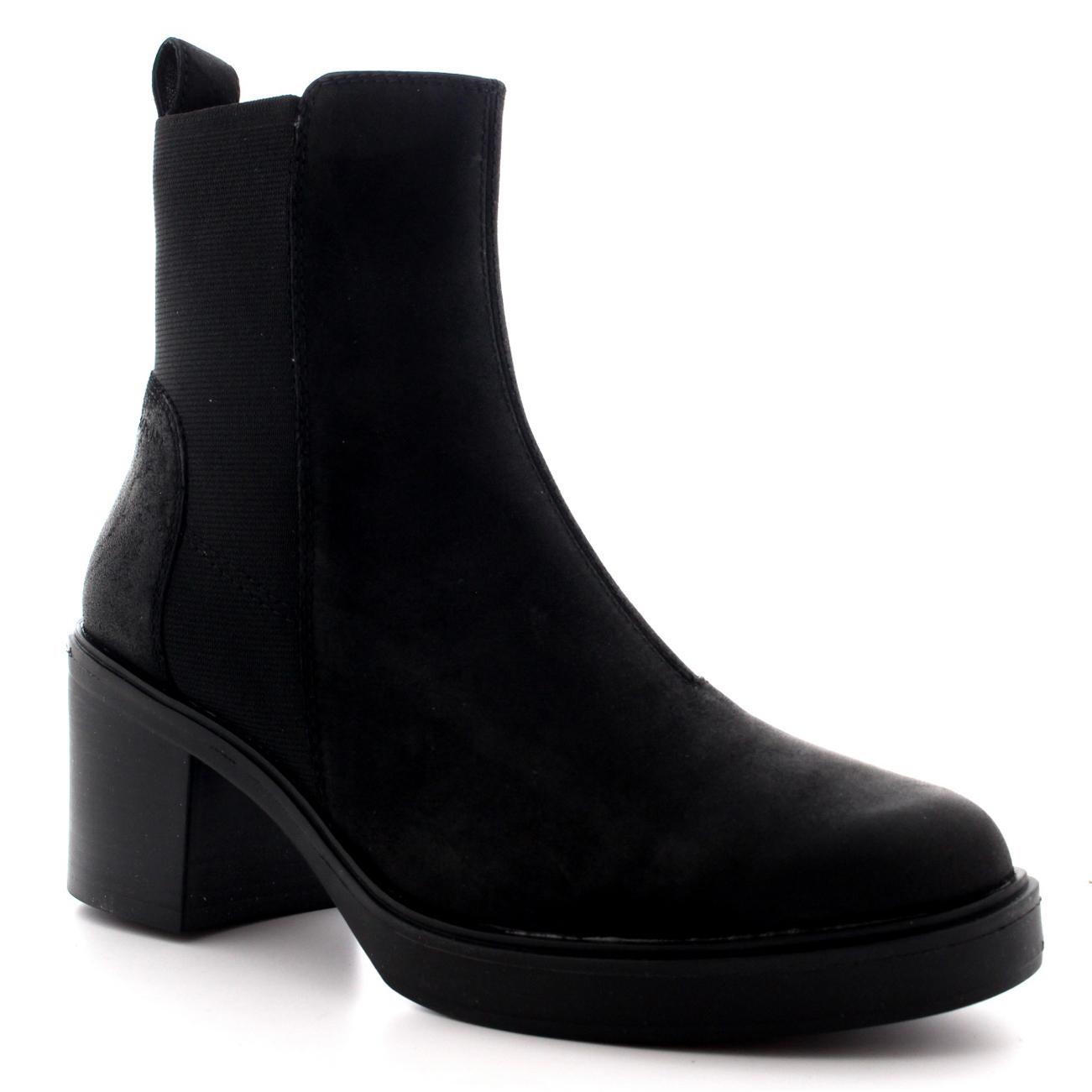 Womens Vagabond Tilda Casual Suede Elastic Festival Black Ankle ...