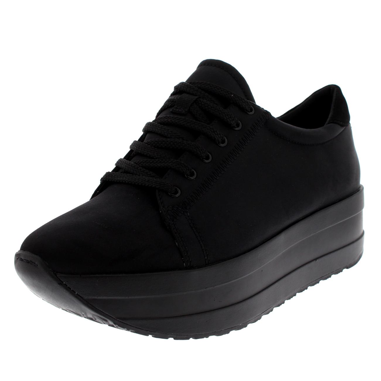 detailed look 3199e 9fac0 Womens-Vagabond-Casey-Black-Platform-Fashion-Wedge-Shiny-