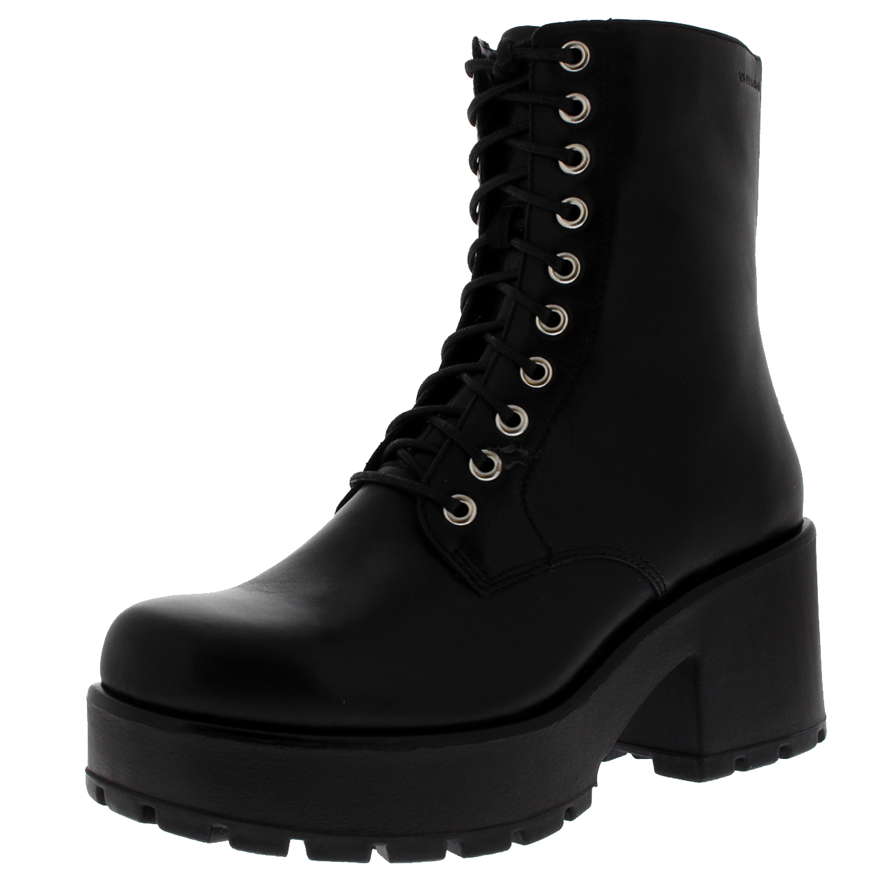 Womens Vagabond Dioon Festival Leather Black Casual Block Heels Boots US  5.5-10 9041ddc6fc