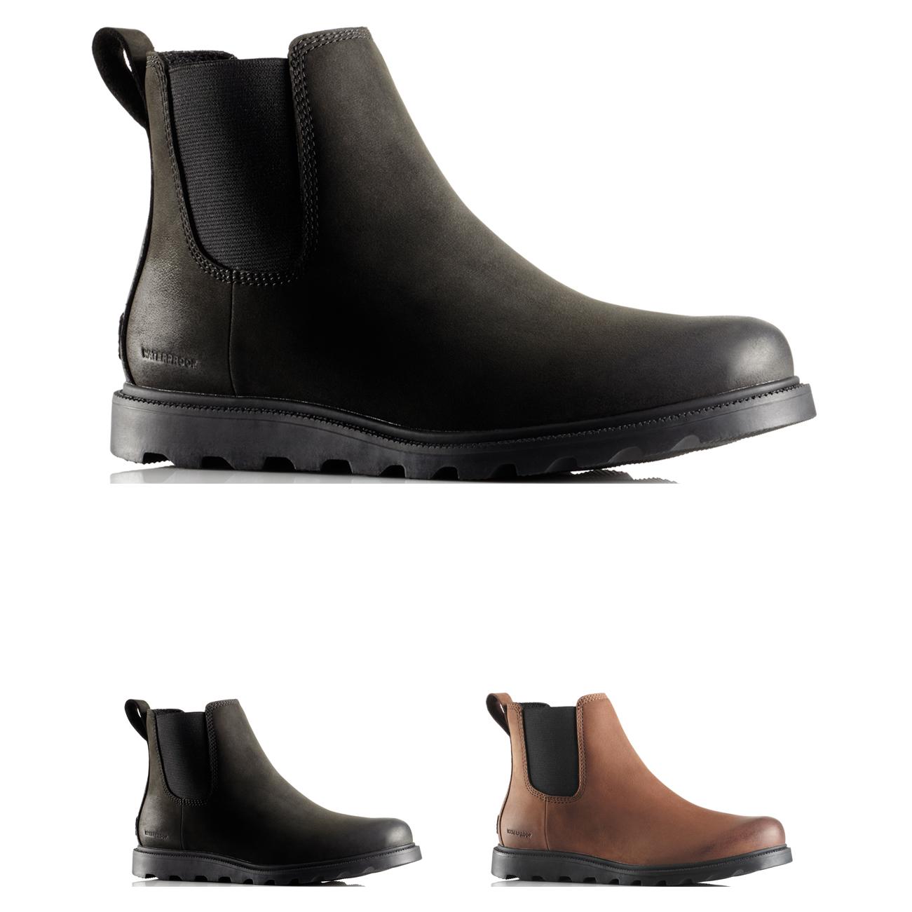 Womens Sorel Ainsley Chelsea Winter Leather Elastic Dealer A