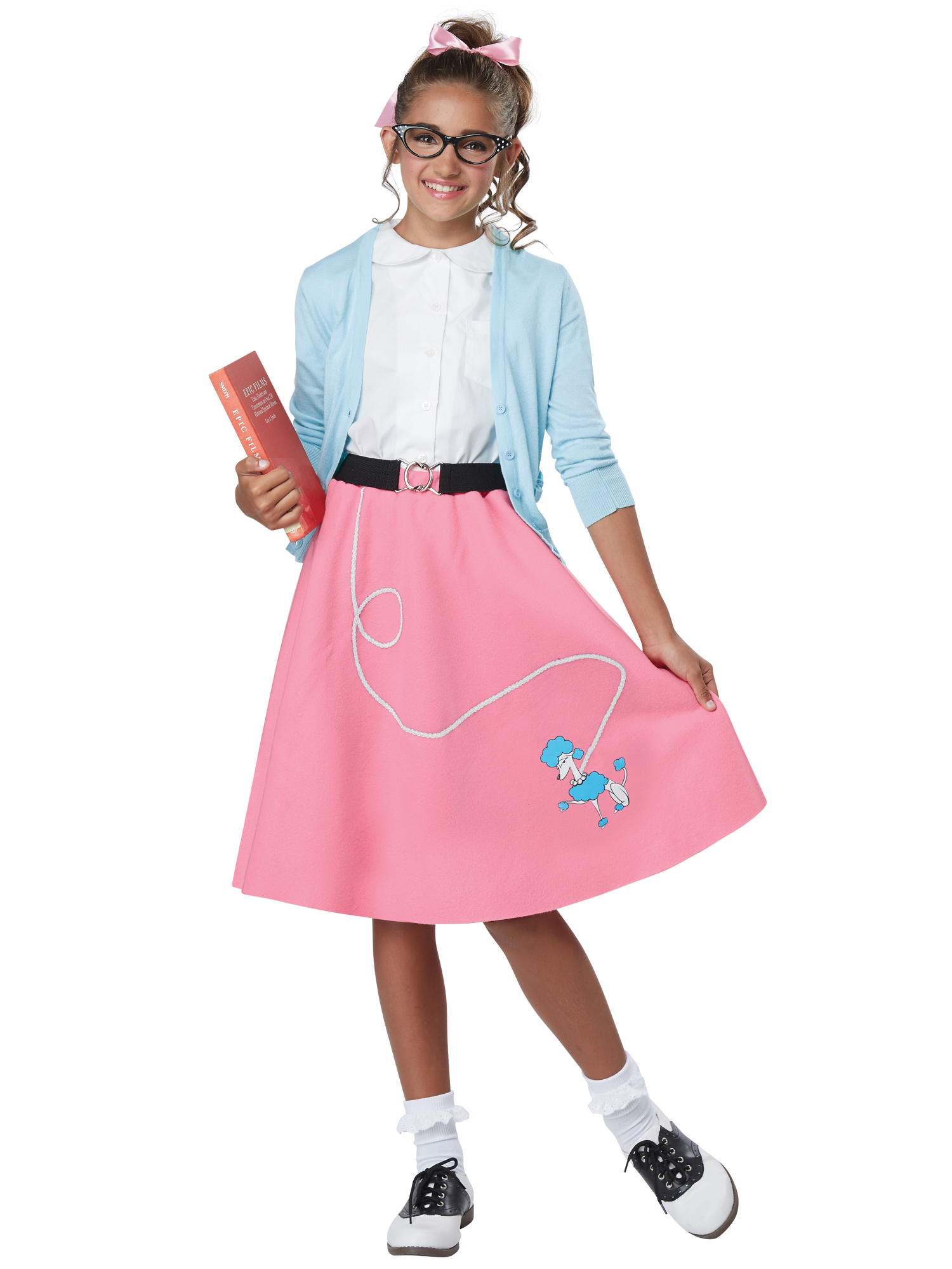 99c5e568e3 50s Grease Rock N Roll 1950s Sock Hop Retro Girls Costume Pink Poodle Skirt  XS