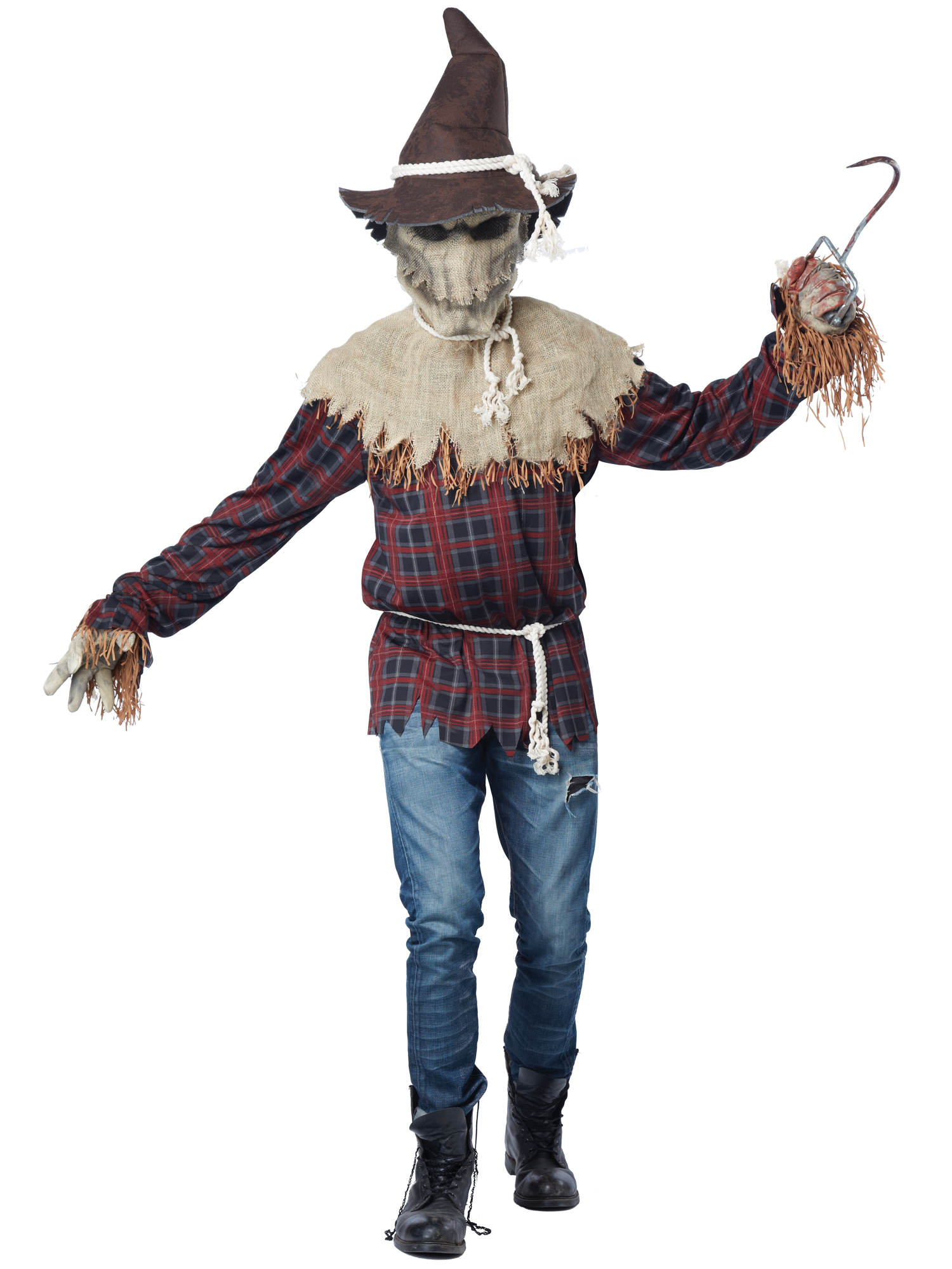 sadistic scarecrow scary evil horror halloween ani-motion mask men