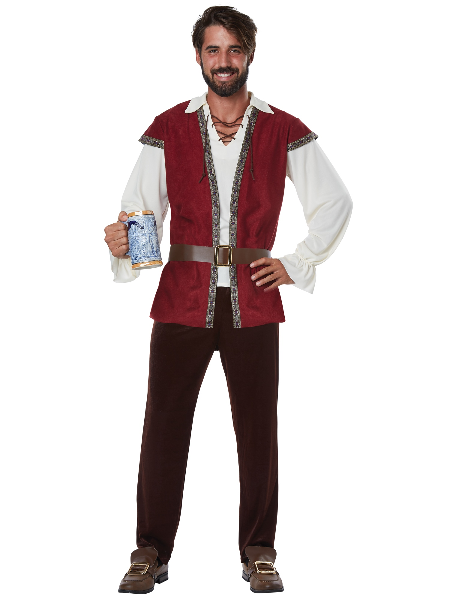 XL Mens Oktoberfest Tavern Man Game of Thrones Medieval Costume Size S