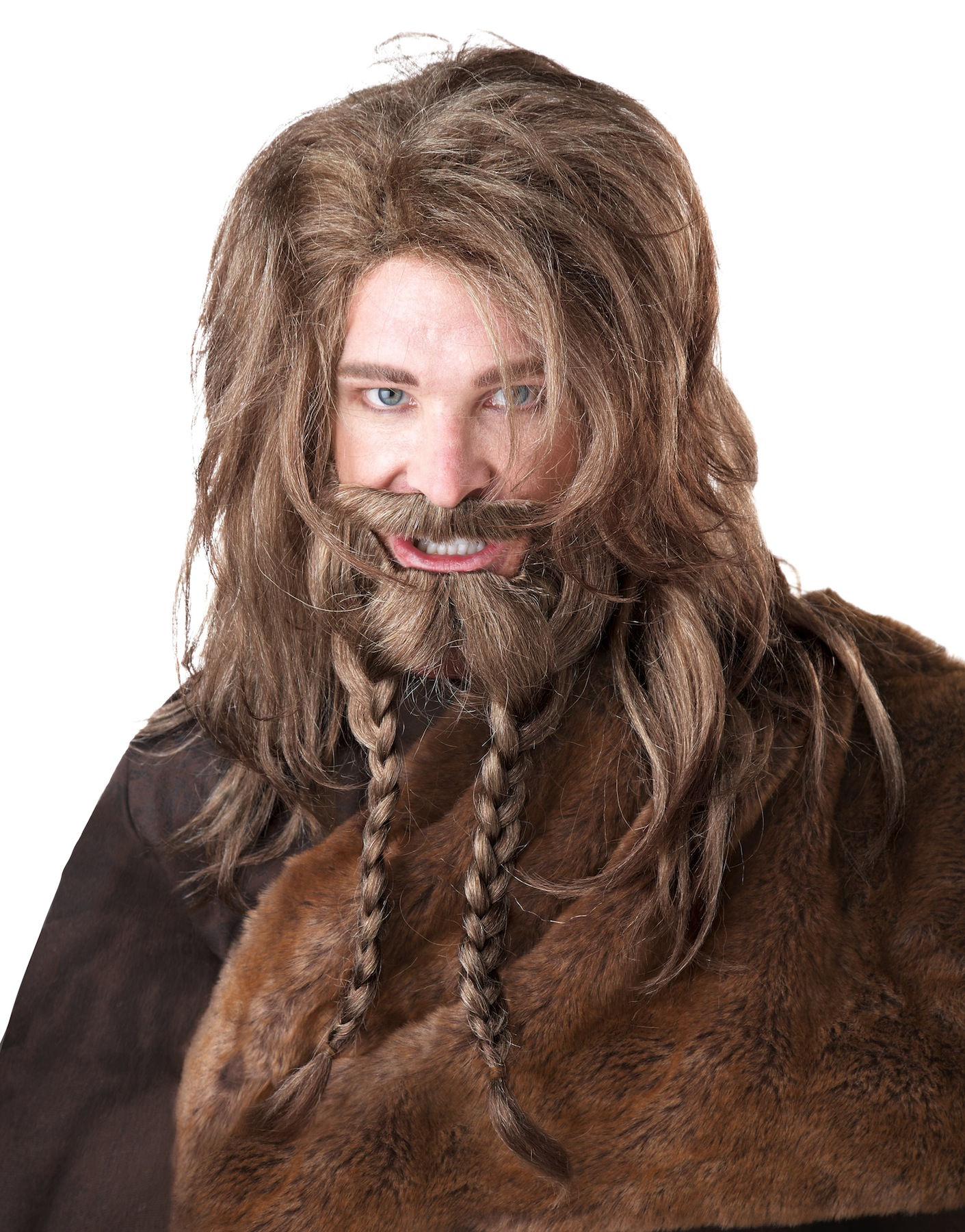 8a19bc0b8f2 Viking Barbarian Dwarf Blonde Men Costume Wig Beard   Moustache