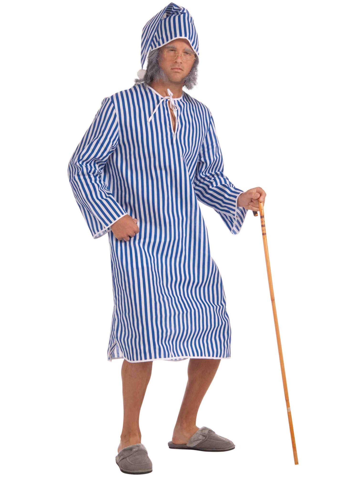 scrooges night before christmas carol nightshirt cap men costume std