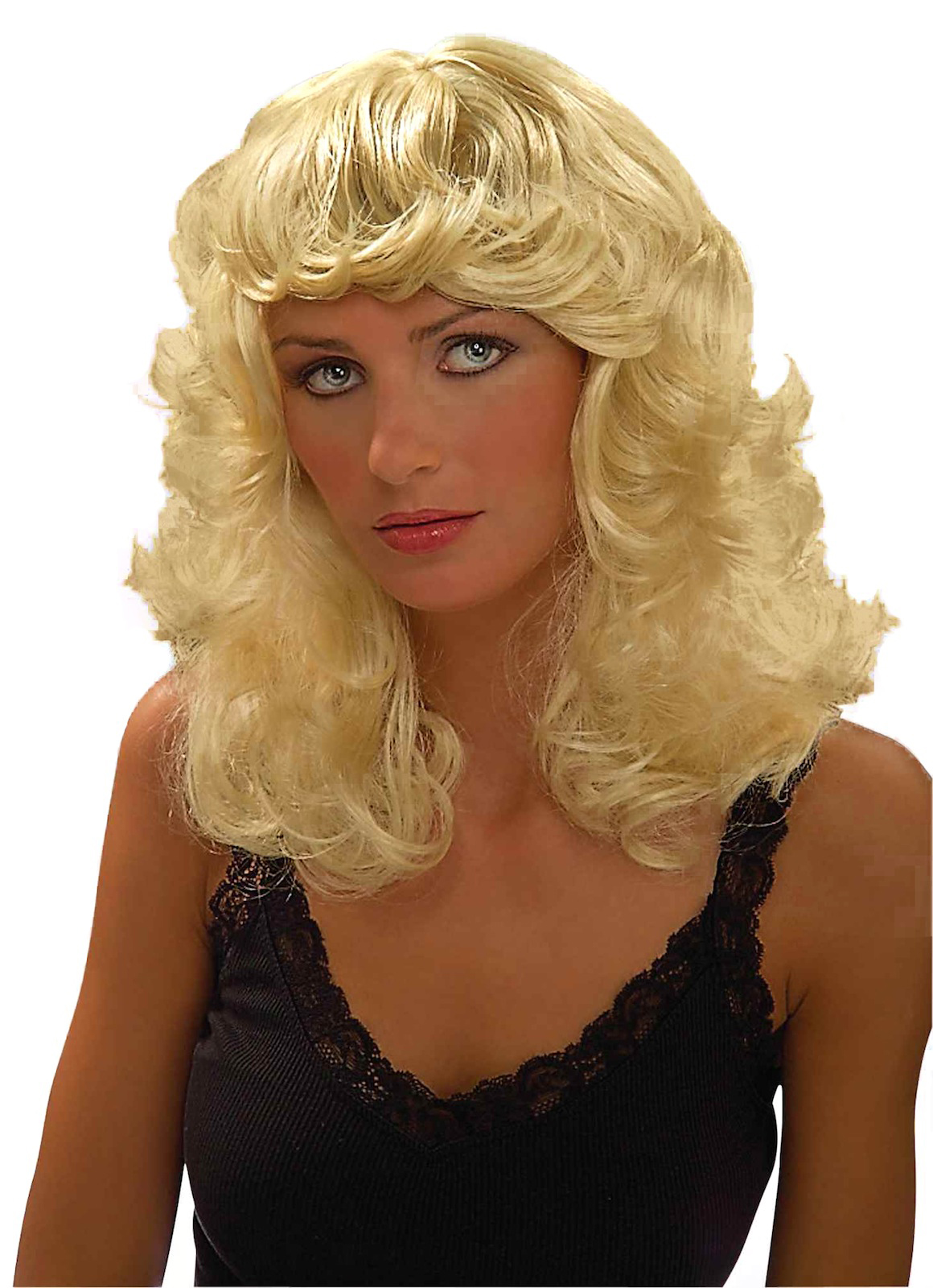 Dolly Blonde Beauty Sandy Grease 50s 60s Women Costume Wig