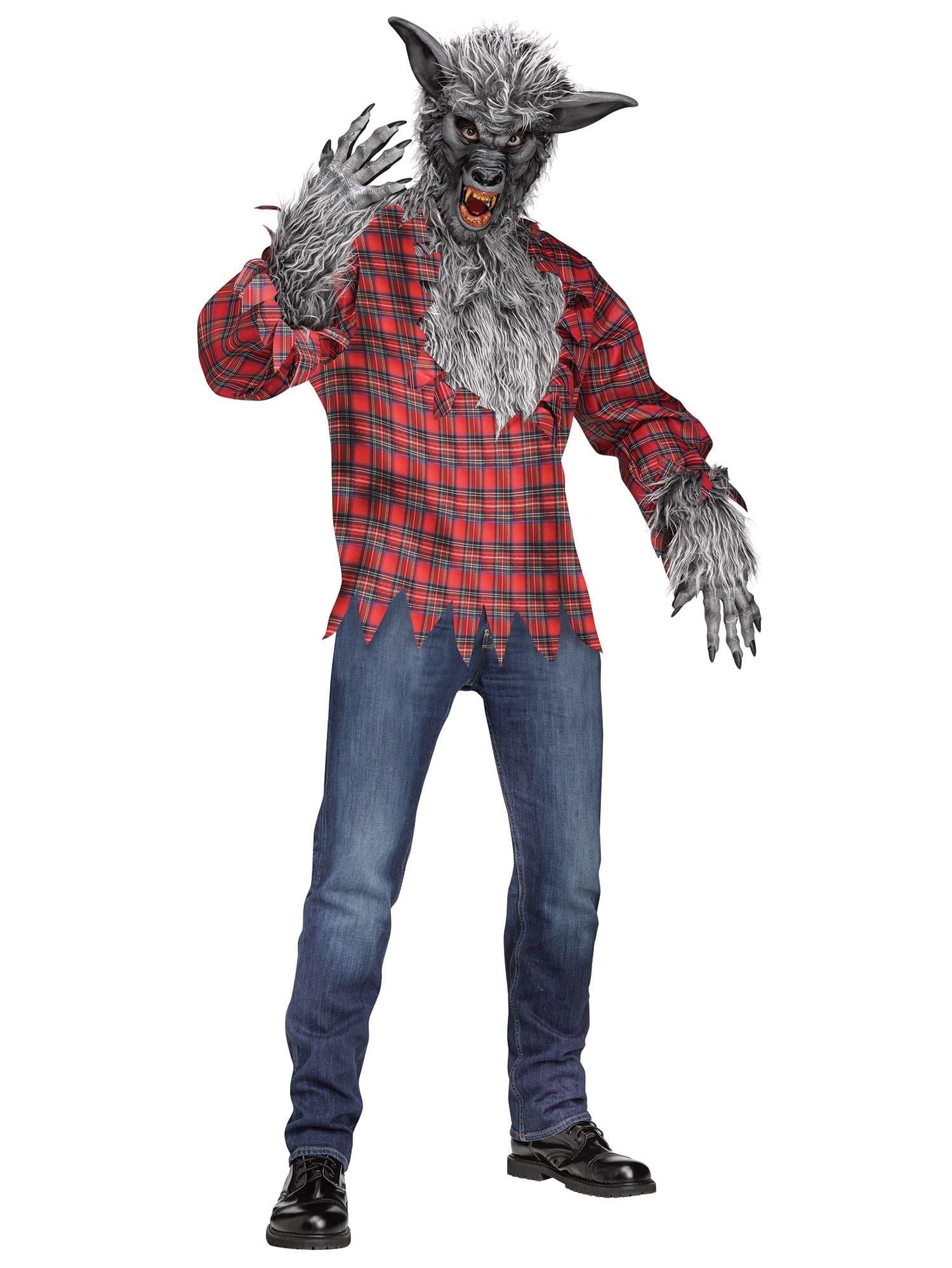 5b7ae52d7c1 Werewolf Wolf Man Grey Wolf Halloween Men Costume One Size ...