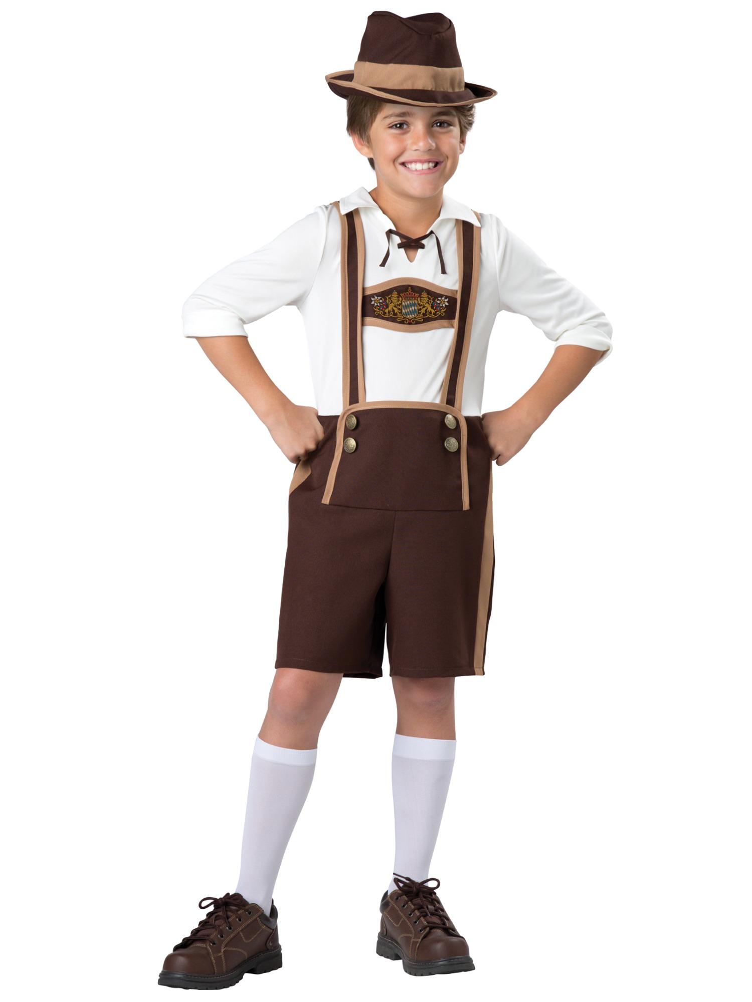 d3889de739d Details about Bavarian Guy Oktoberfest Lederhosen German Fancy Dress Up  Boys Costume