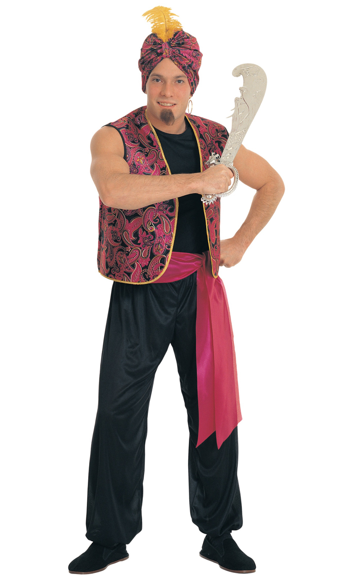 Sultan Arabian Aladdin Genie of The L& Sheik Ali Baba Dress Up Men Costume  sc 1 st  eBay : sheik halloween costume  - Germanpascual.Com