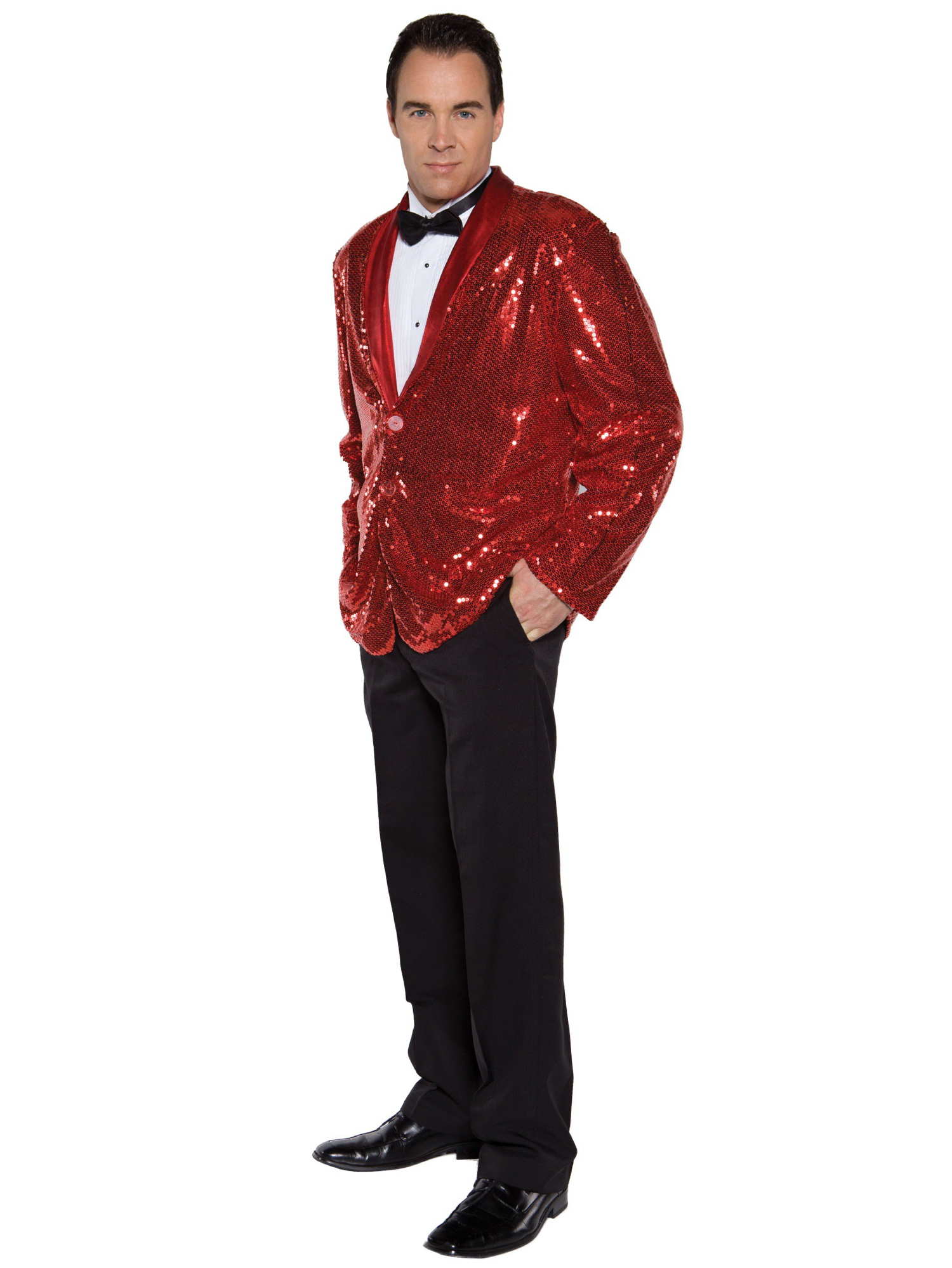Sequin Red Jacket Magician Circus 1950s 1970s Disco Pimp Jazz Men Costume OS  sc 1 st  eBay & Sequin Red Jacket Magician Circus 1950s 1970s Disco Pimp Jazz Men ...