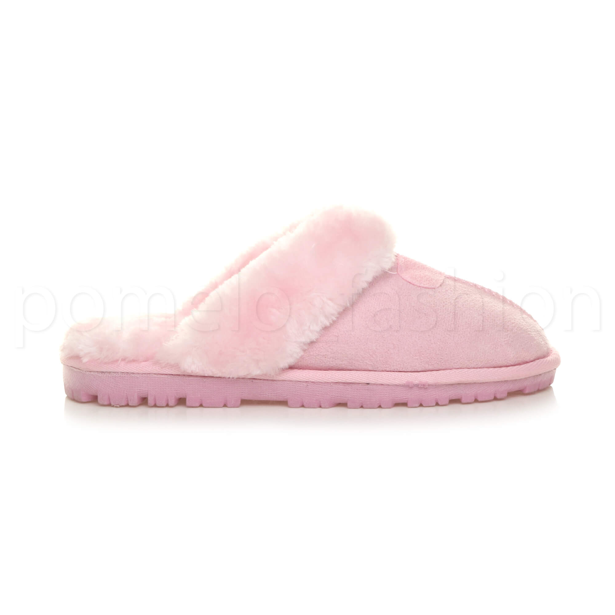 WOMENS-LADIES-FLAT-FUR-LINED-COMFORTABLE-WINTER-MULES-SLIPPERS-HOUSE-SHOES-SIZE thumbnail 66