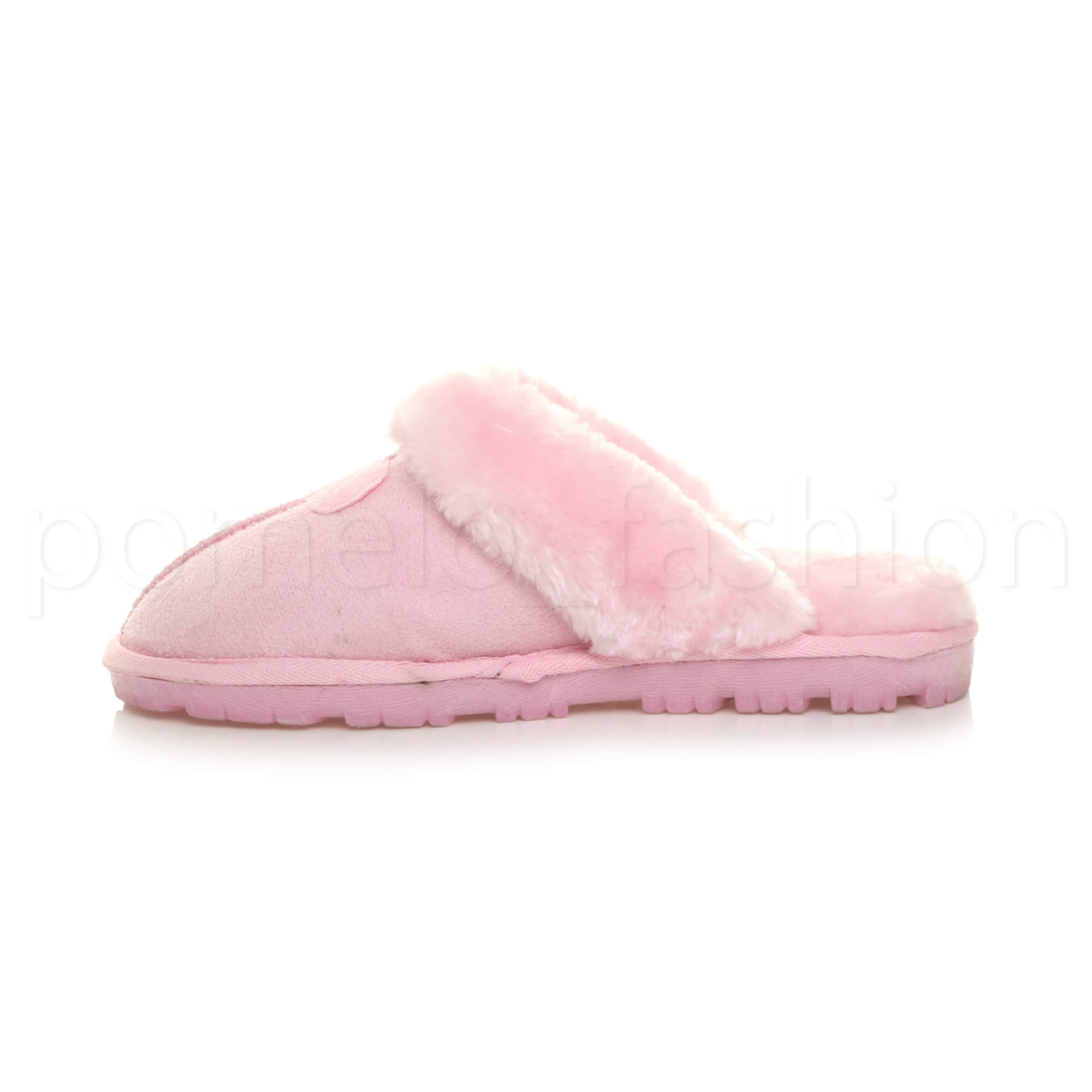 WOMENS-LADIES-FLAT-FUR-LINED-COMFORTABLE-WINTER-MULES-SLIPPERS-HOUSE-SHOES-SIZE thumbnail 67