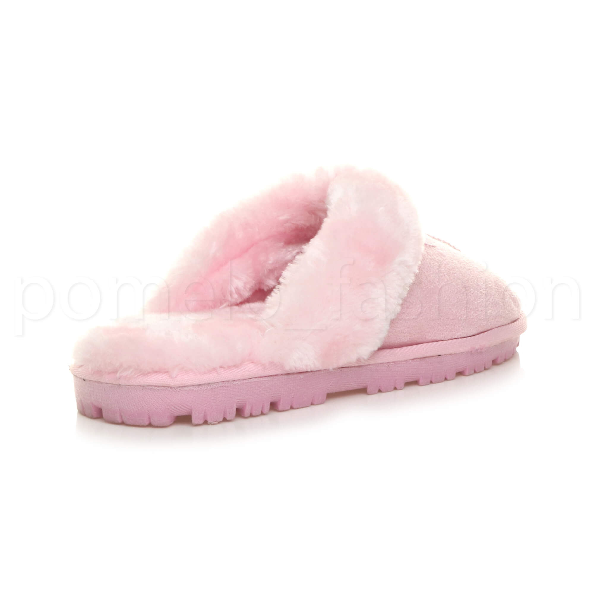 WOMENS-LADIES-FLAT-FUR-LINED-COMFORTABLE-WINTER-MULES-SLIPPERS-HOUSE-SHOES-SIZE thumbnail 68