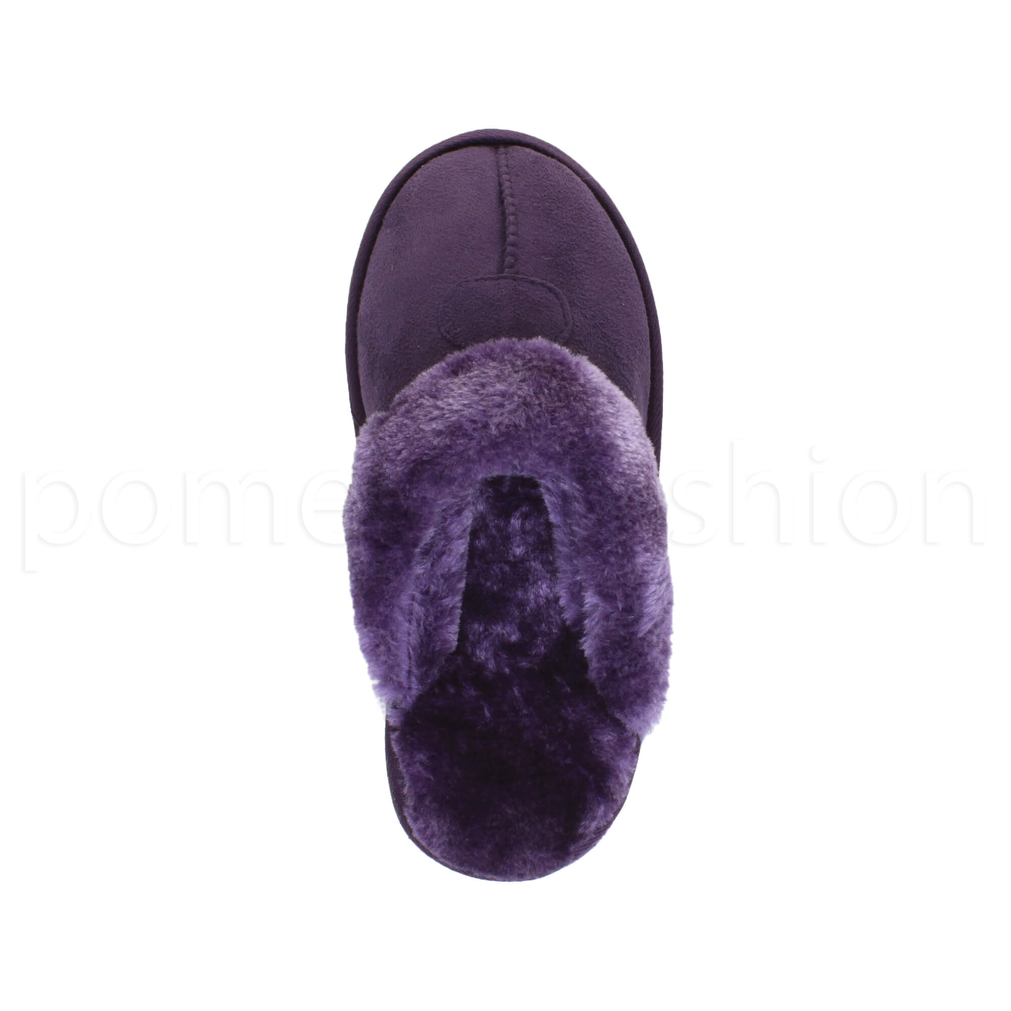 WOMENS-LADIES-FLAT-FUR-LINED-COMFORTABLE-WINTER-MULES-SLIPPERS-HOUSE-SHOES-SIZE thumbnail 90