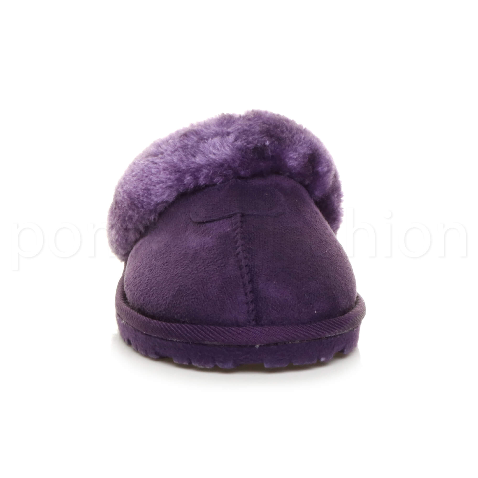 WOMENS-LADIES-FLAT-FUR-LINED-COMFORTABLE-WINTER-MULES-SLIPPERS-HOUSE-SHOES-SIZE thumbnail 91
