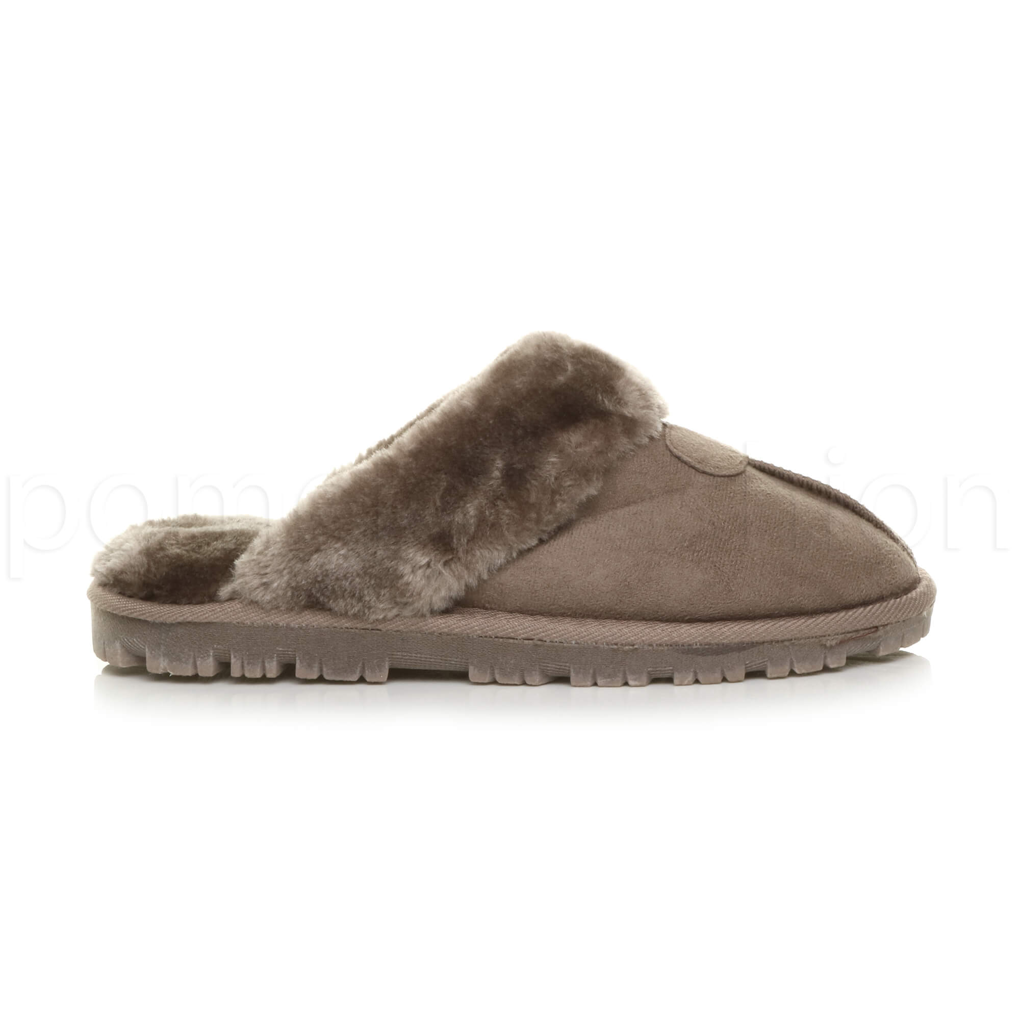 WOMENS-LADIES-FLAT-FUR-LINED-COMFORTABLE-WINTER-MULES-SLIPPERS-HOUSE-SHOES-SIZE thumbnail 52