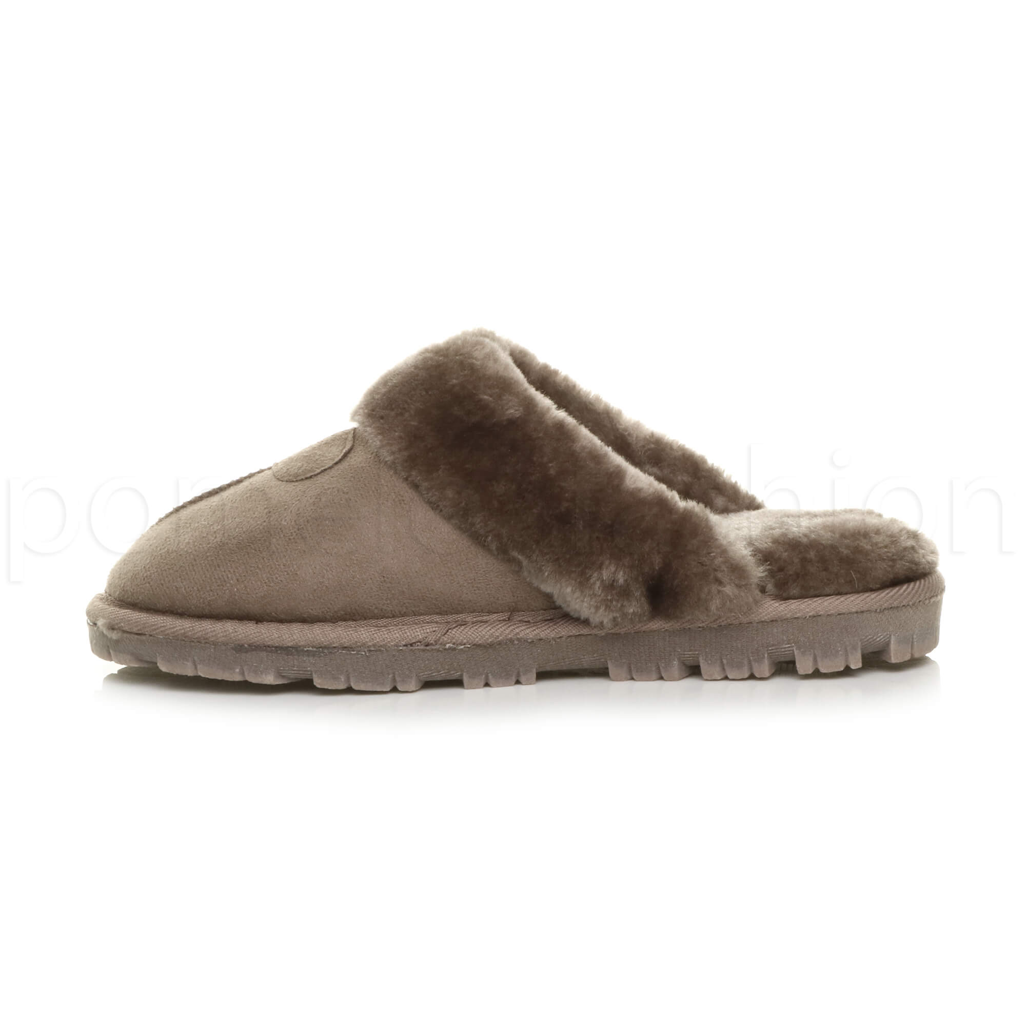 WOMENS-LADIES-FLAT-FUR-LINED-COMFORTABLE-WINTER-MULES-SLIPPERS-HOUSE-SHOES-SIZE thumbnail 53