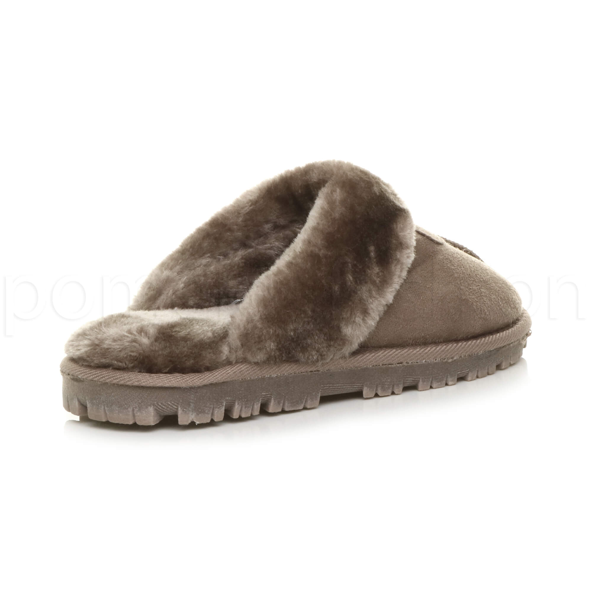 WOMENS-LADIES-FLAT-FUR-LINED-COMFORTABLE-WINTER-MULES-SLIPPERS-HOUSE-SHOES-SIZE thumbnail 54