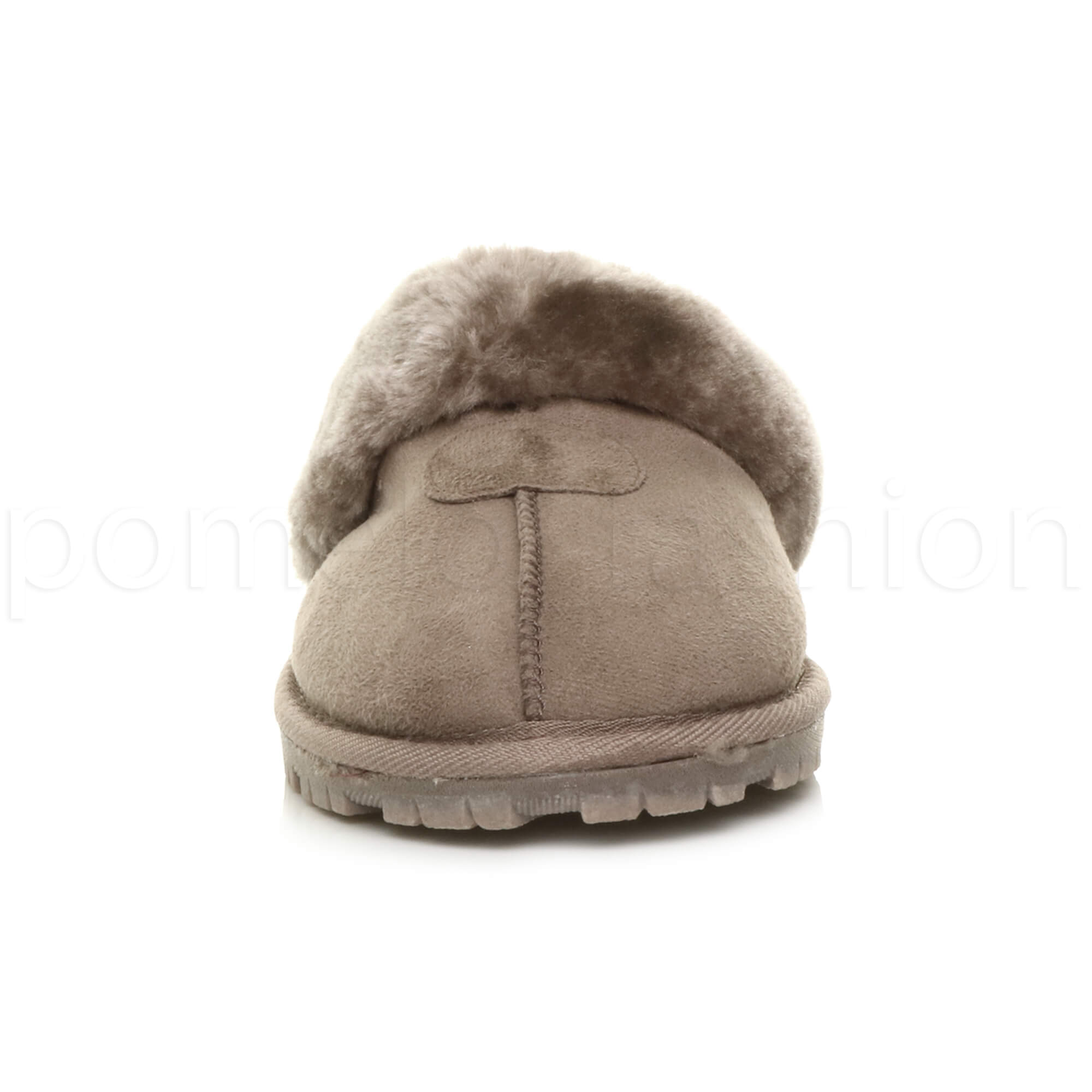 WOMENS-LADIES-FLAT-FUR-LINED-COMFORTABLE-WINTER-MULES-SLIPPERS-HOUSE-SHOES-SIZE thumbnail 56