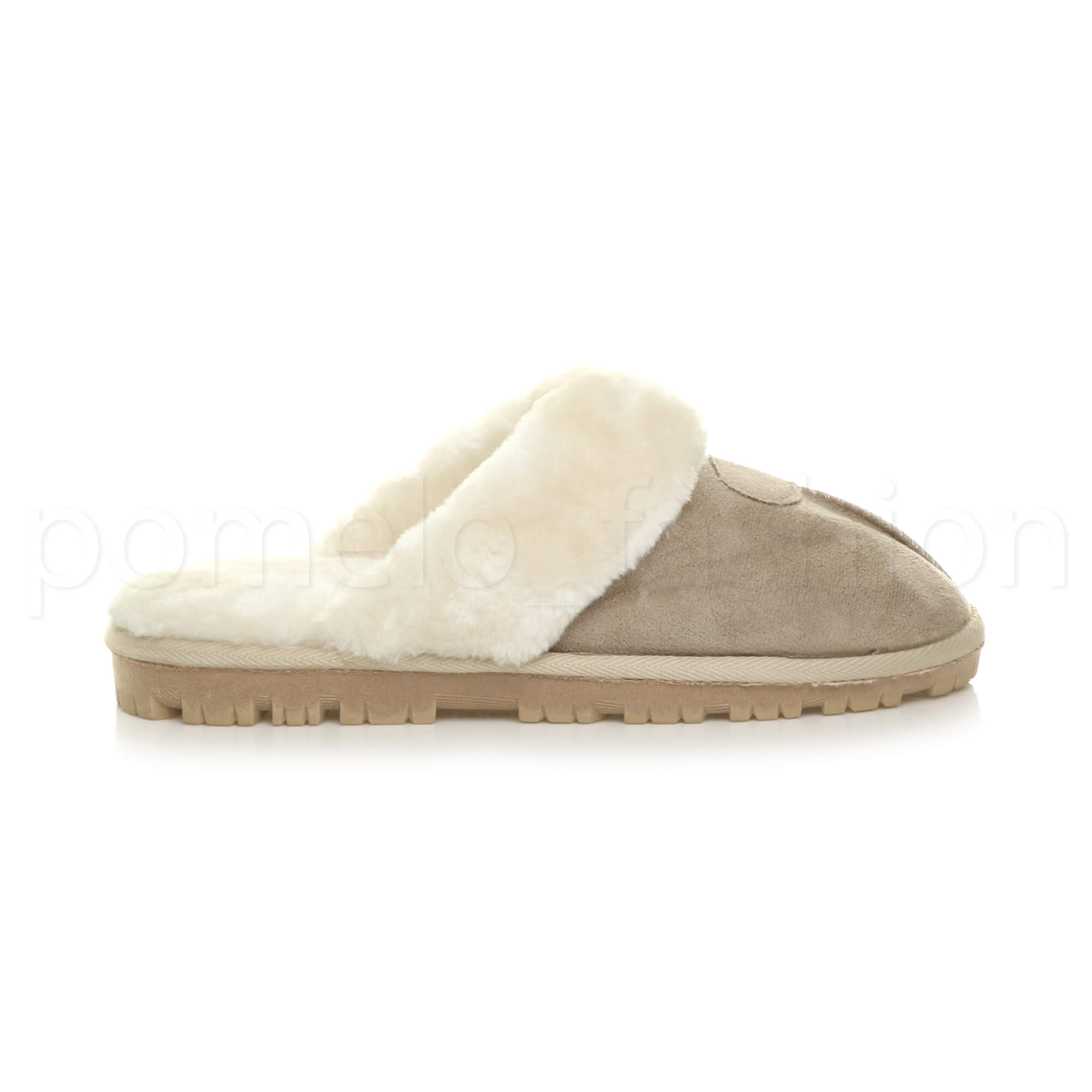 WOMENS-LADIES-FLAT-FUR-LINED-COMFORTABLE-WINTER-MULES-SLIPPERS-HOUSE-SHOES-SIZE thumbnail 3