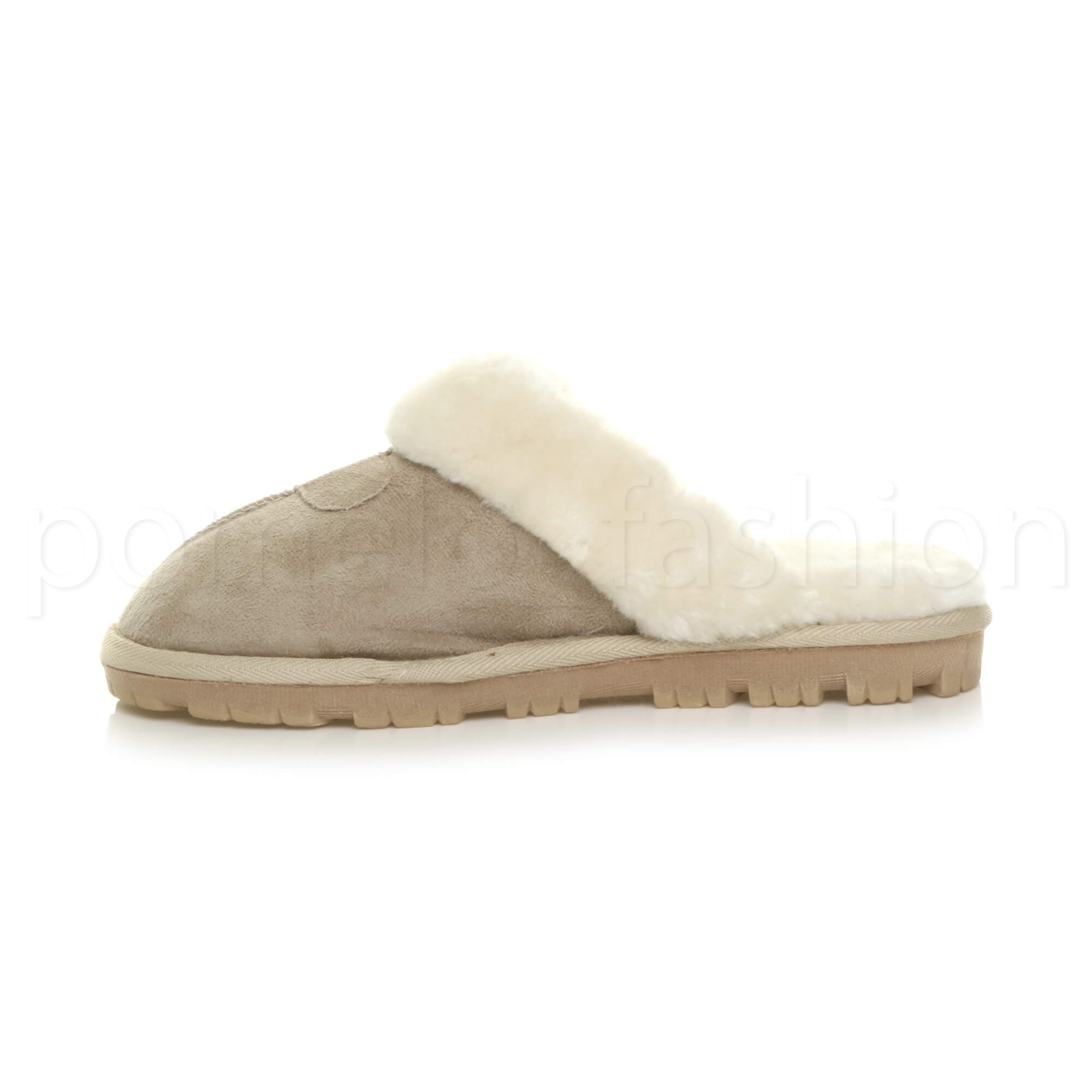 WOMENS-LADIES-FLAT-FUR-LINED-COMFORTABLE-WINTER-MULES-SLIPPERS-HOUSE-SHOES-SIZE thumbnail 4