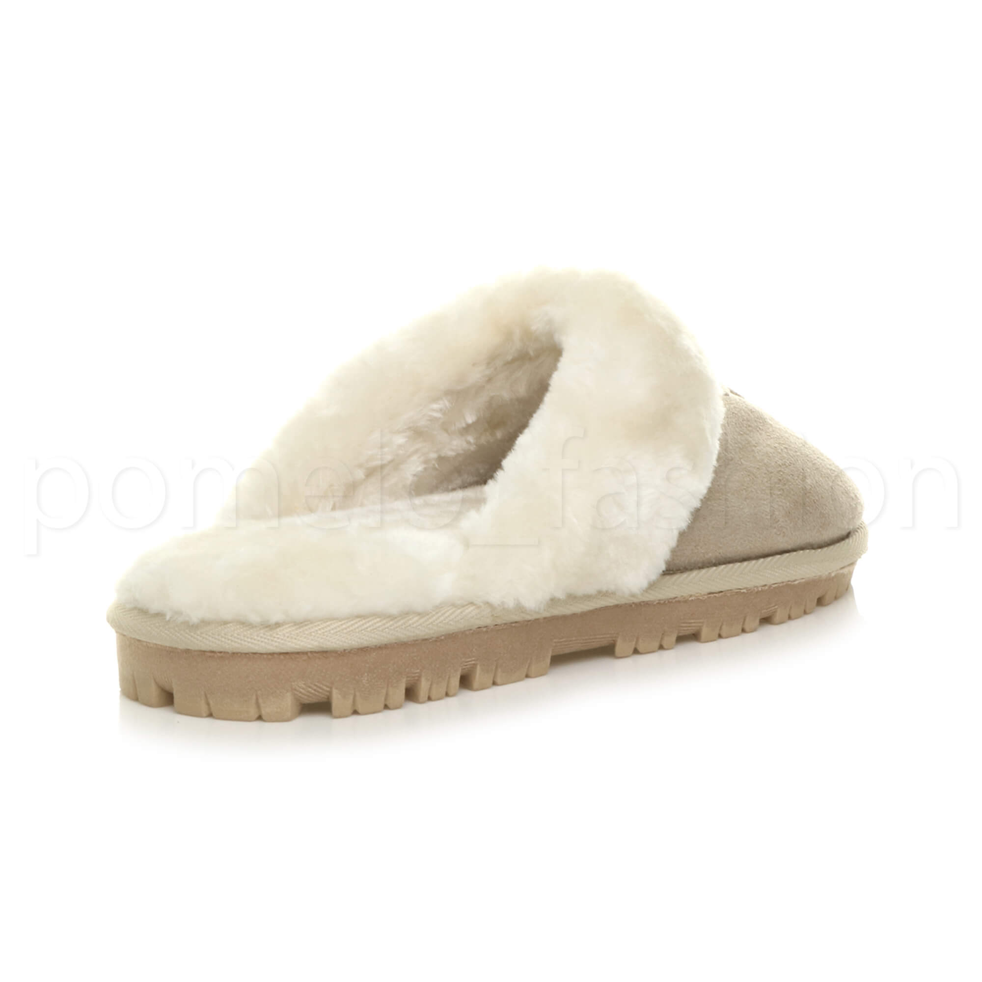 WOMENS-LADIES-FLAT-FUR-LINED-COMFORTABLE-WINTER-MULES-SLIPPERS-HOUSE-SHOES-SIZE thumbnail 5