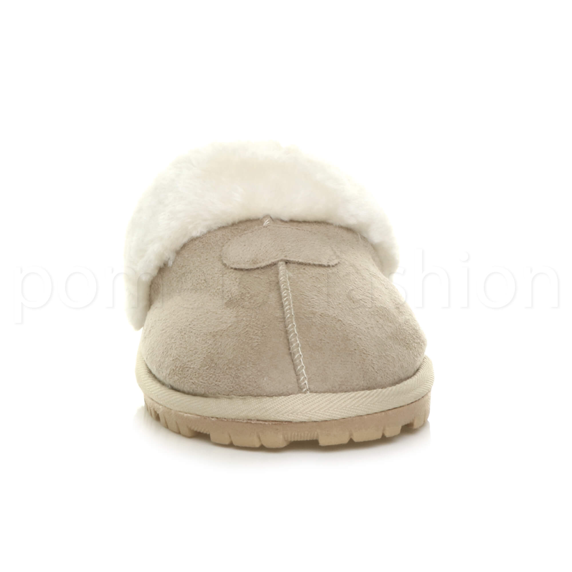 WOMENS-LADIES-FLAT-FUR-LINED-COMFORTABLE-WINTER-MULES-SLIPPERS-HOUSE-SHOES-SIZE thumbnail 7