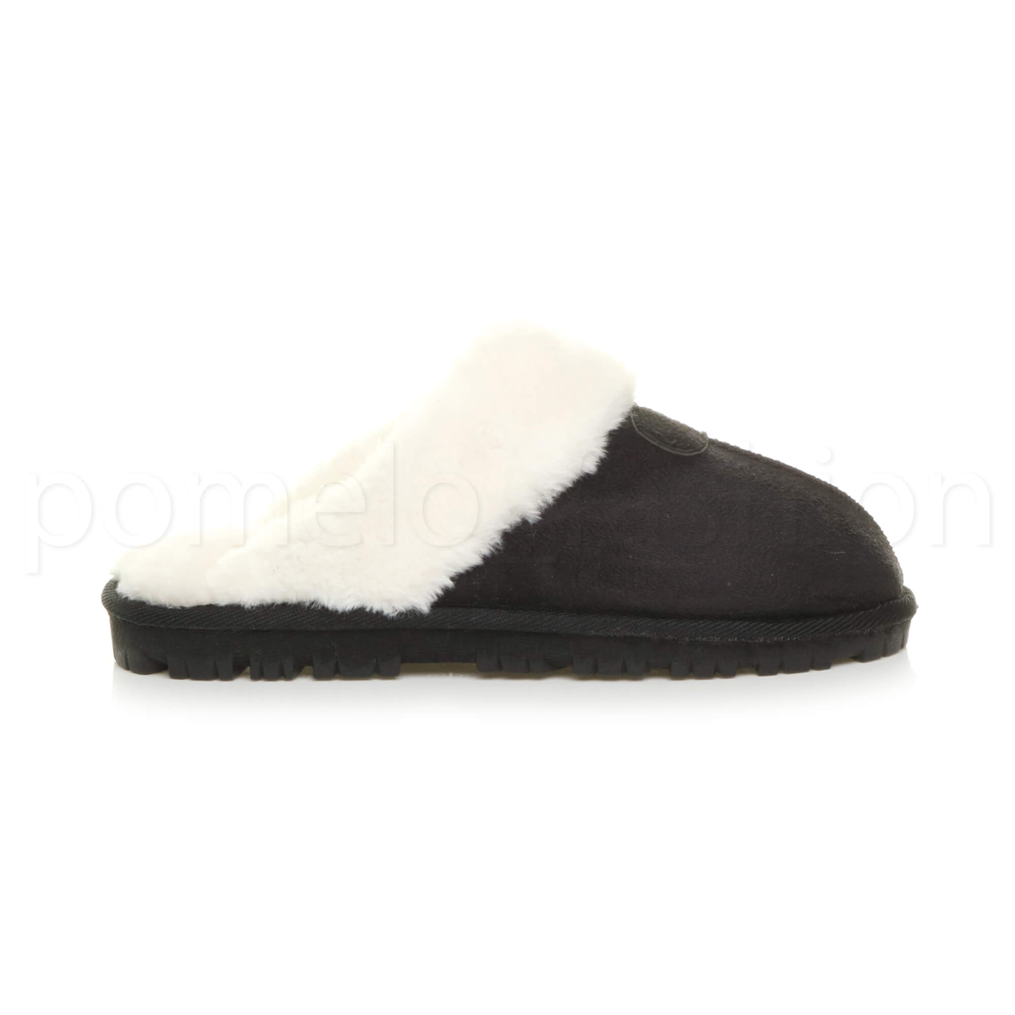 WOMENS-LADIES-FLAT-FUR-LINED-COMFORTABLE-WINTER-MULES-SLIPPERS-HOUSE-SHOES-SIZE thumbnail 24
