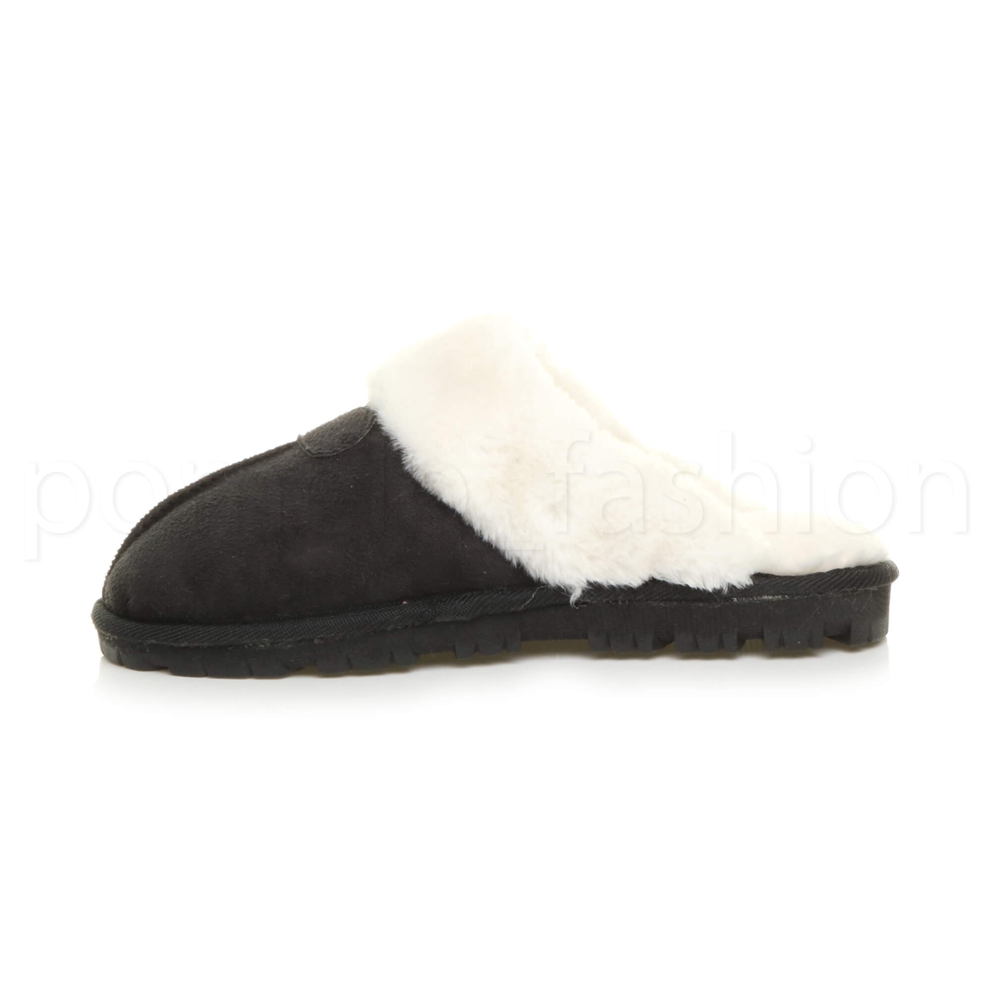 WOMENS-LADIES-FLAT-FUR-LINED-COMFORTABLE-WINTER-MULES-SLIPPERS-HOUSE-SHOES-SIZE thumbnail 25