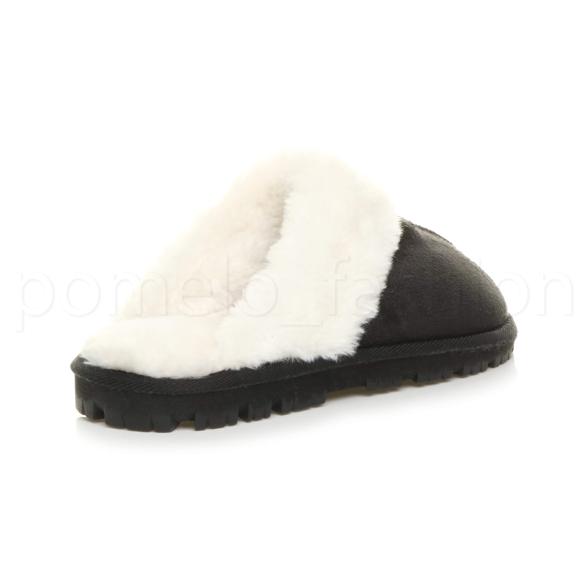 WOMENS-LADIES-FLAT-FUR-LINED-COMFORTABLE-WINTER-MULES-SLIPPERS-HOUSE-SHOES-SIZE thumbnail 26
