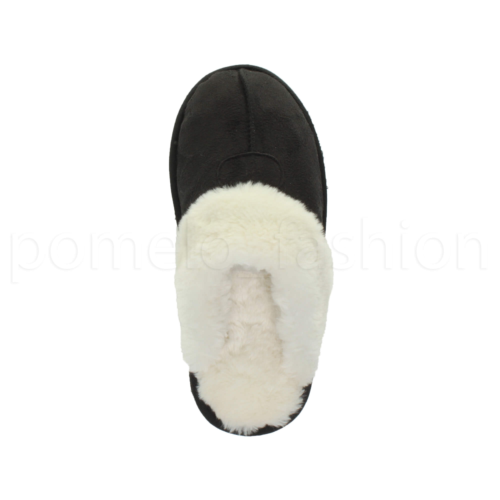 WOMENS-LADIES-FLAT-FUR-LINED-COMFORTABLE-WINTER-MULES-SLIPPERS-HOUSE-SHOES-SIZE thumbnail 27