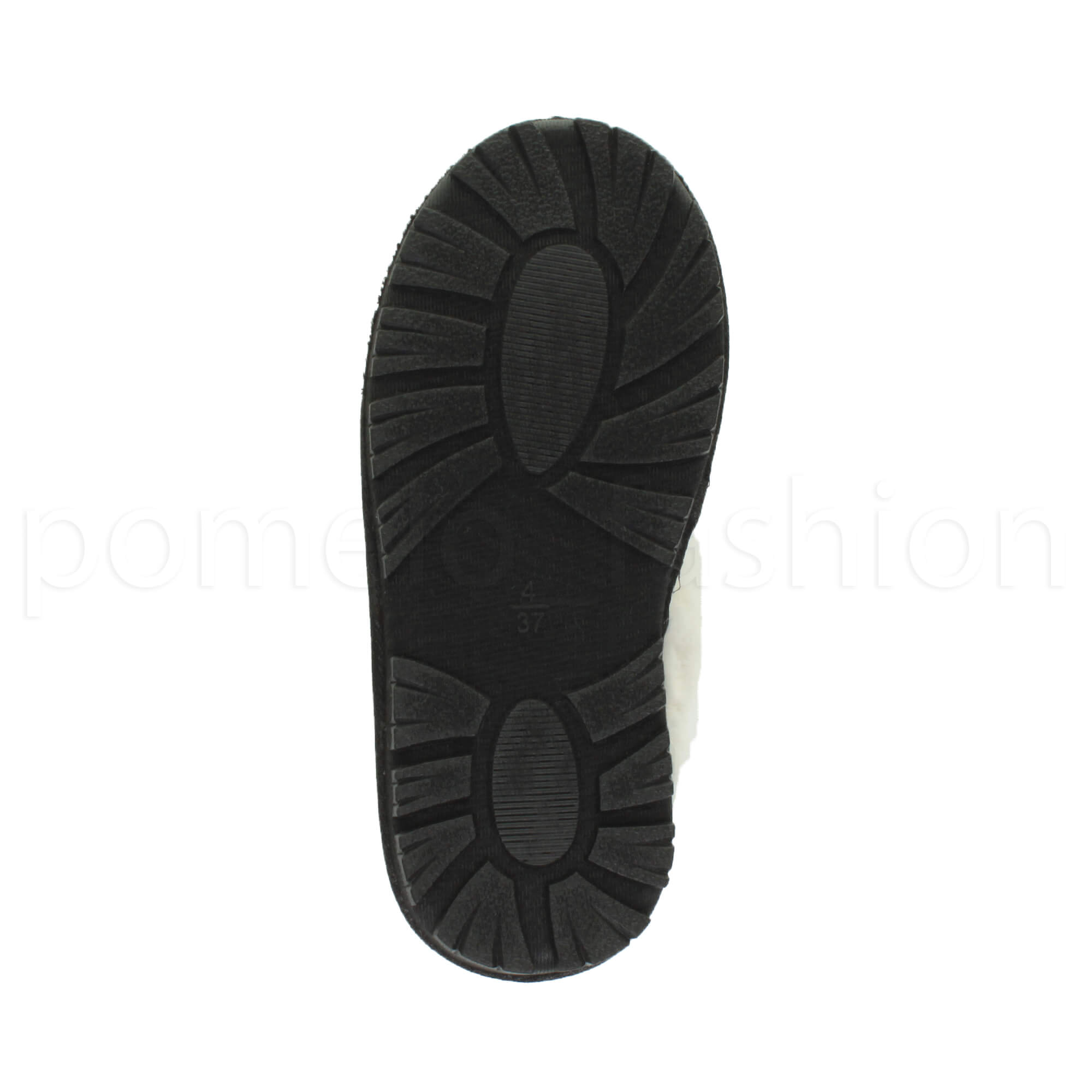 29b1b0d4860d WOMENS LADIES FLAT FUR LINED COMFORTABLE WINTER MULES SLIPPERS HOUSE ...
