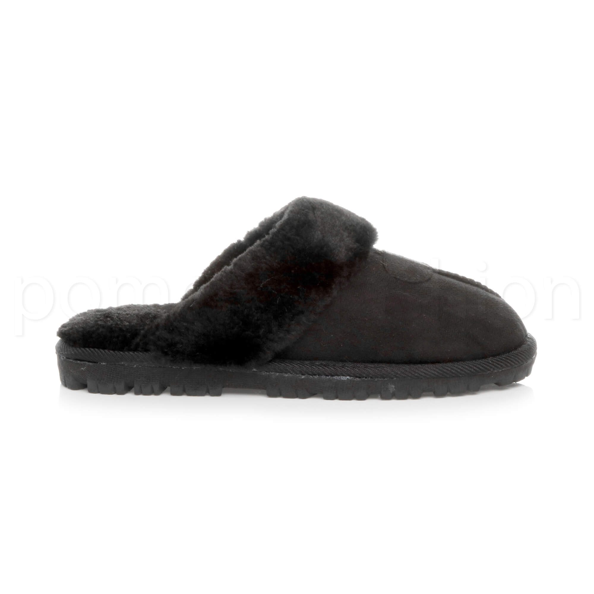 WOMENS-LADIES-FLAT-FUR-LINED-COMFORTABLE-WINTER-MULES-SLIPPERS-HOUSE-SHOES-SIZE thumbnail 17