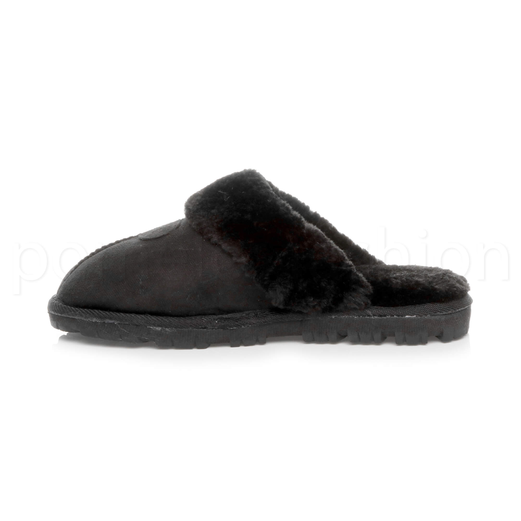 WOMENS-LADIES-FLAT-FUR-LINED-COMFORTABLE-WINTER-MULES-SLIPPERS-HOUSE-SHOES-SIZE thumbnail 18
